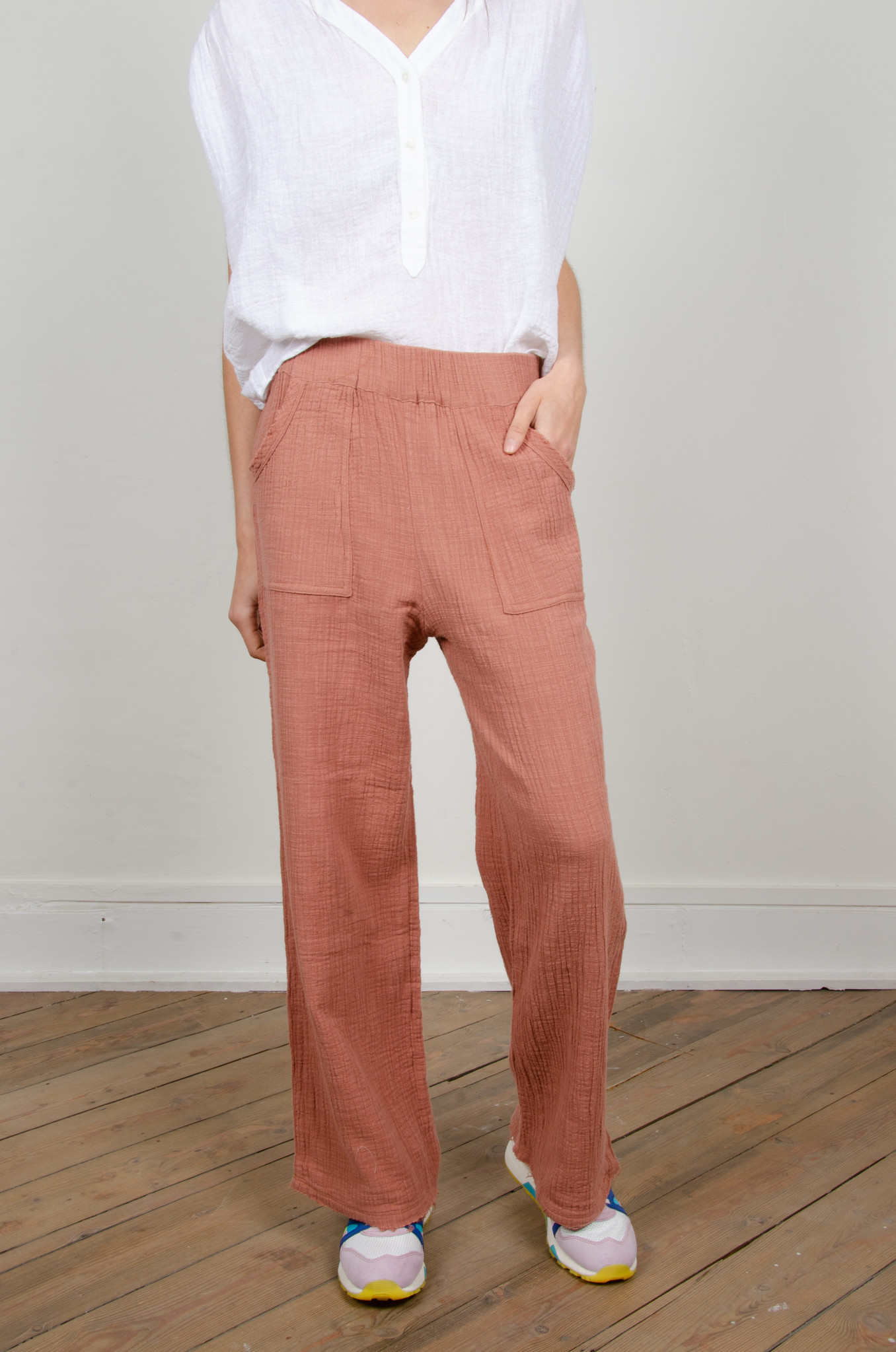 BAMBOO TROUSERS DARK OLD ROSE-5