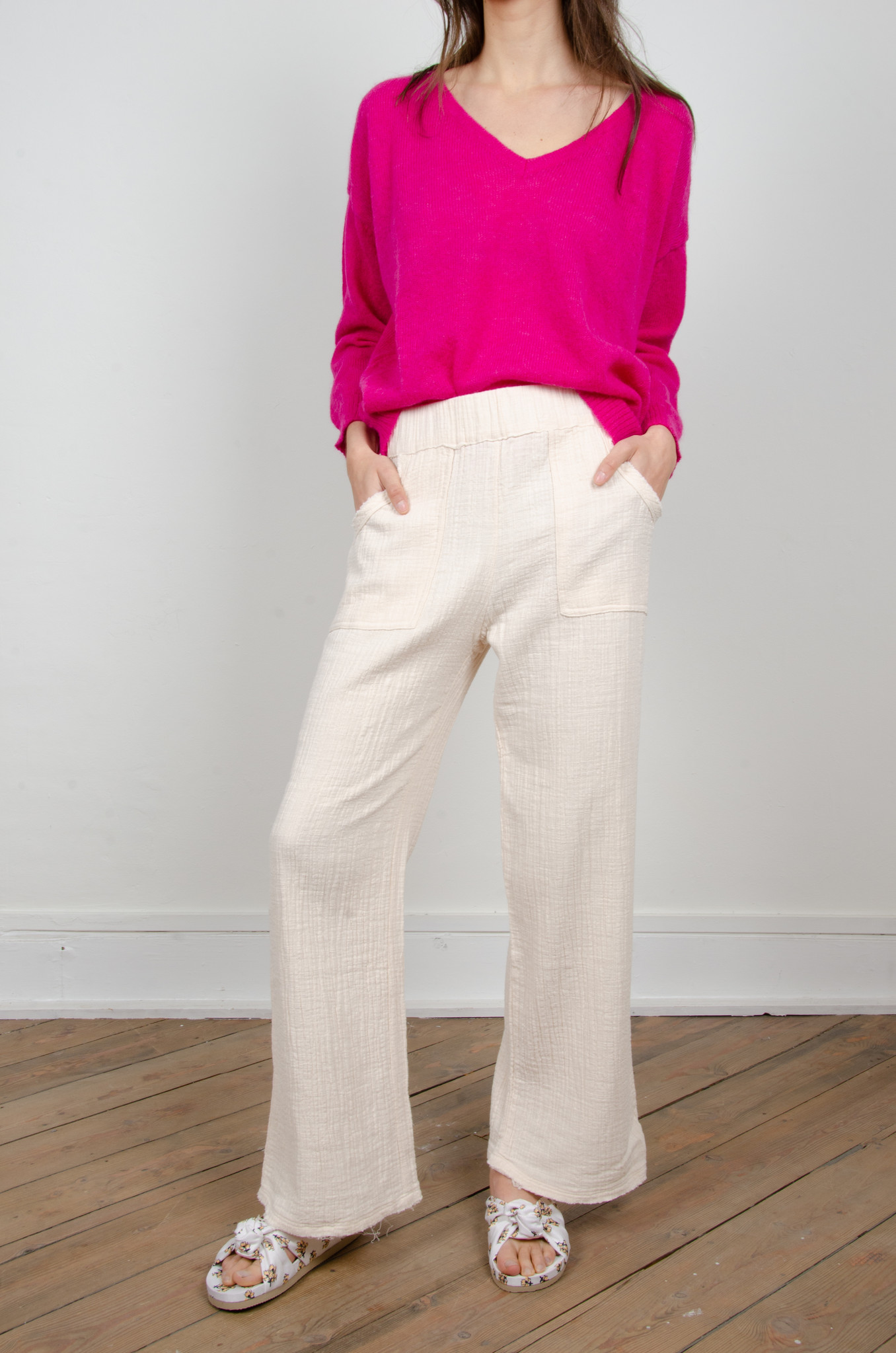BAMBOO TROUSERS OAT-1