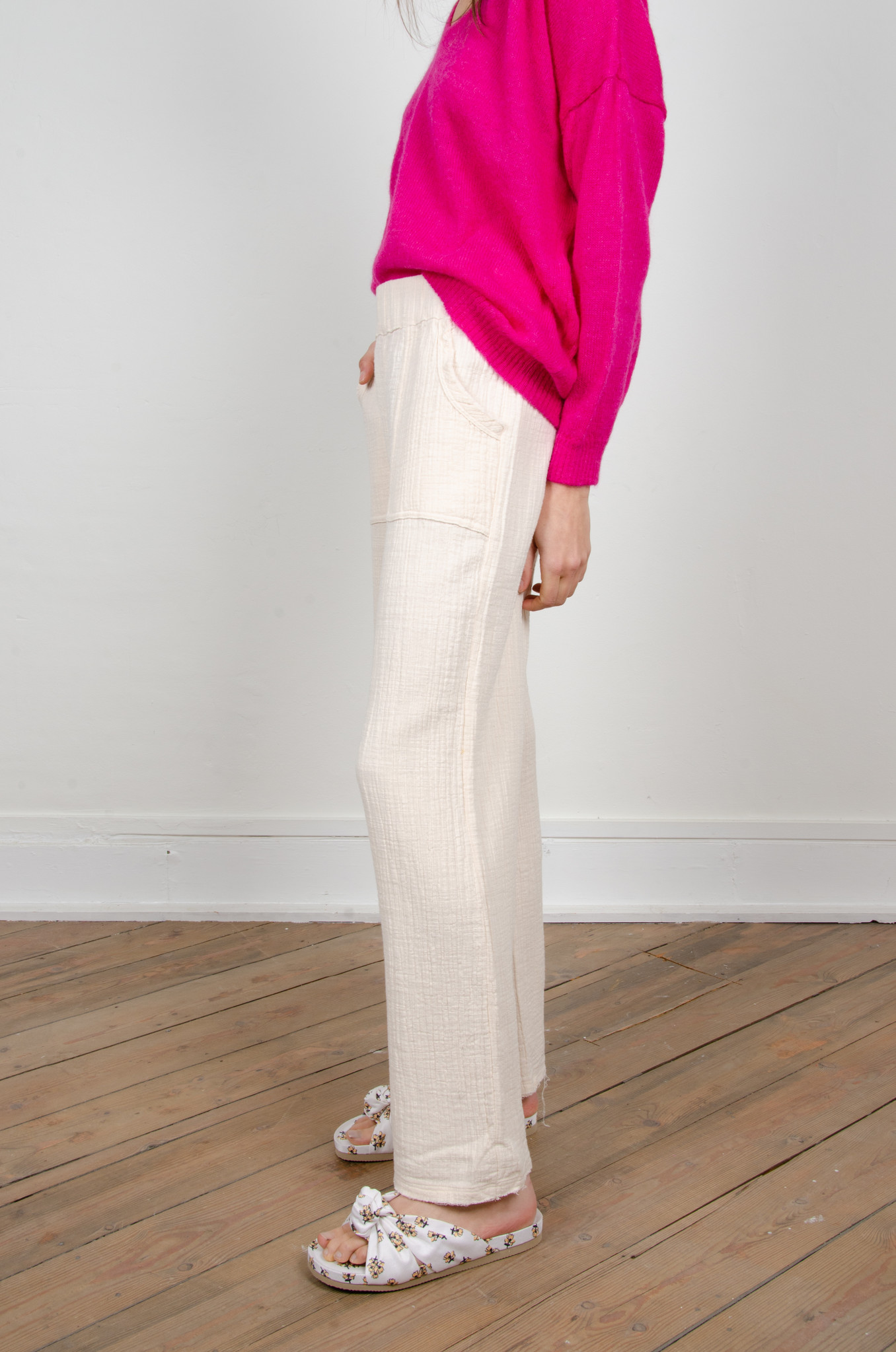 BAMBOO TROUSERS OAT-2