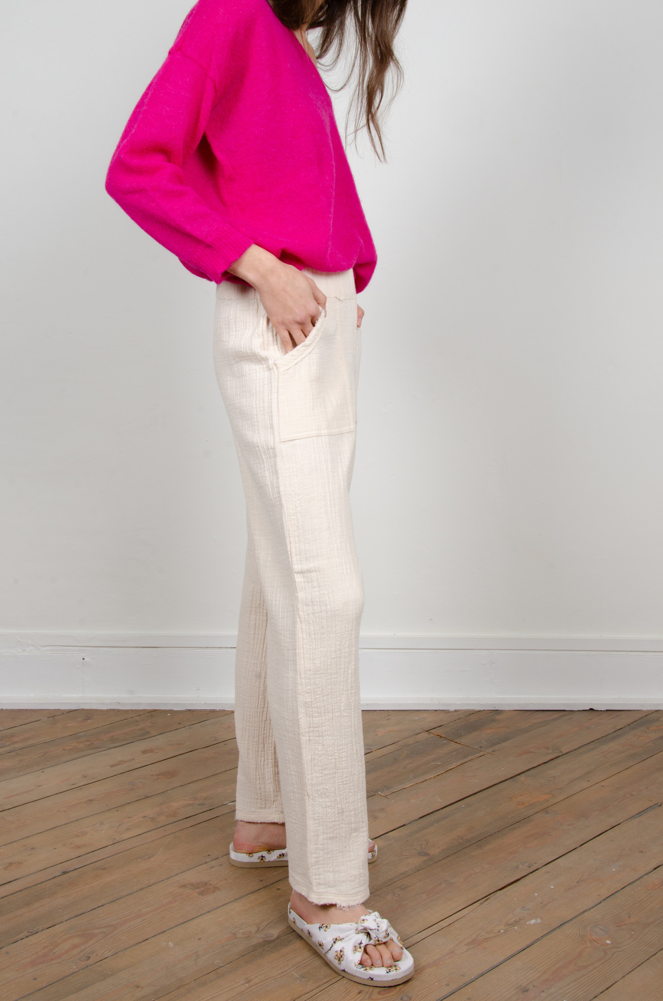 BAMBOO TROUSERS OAT-4