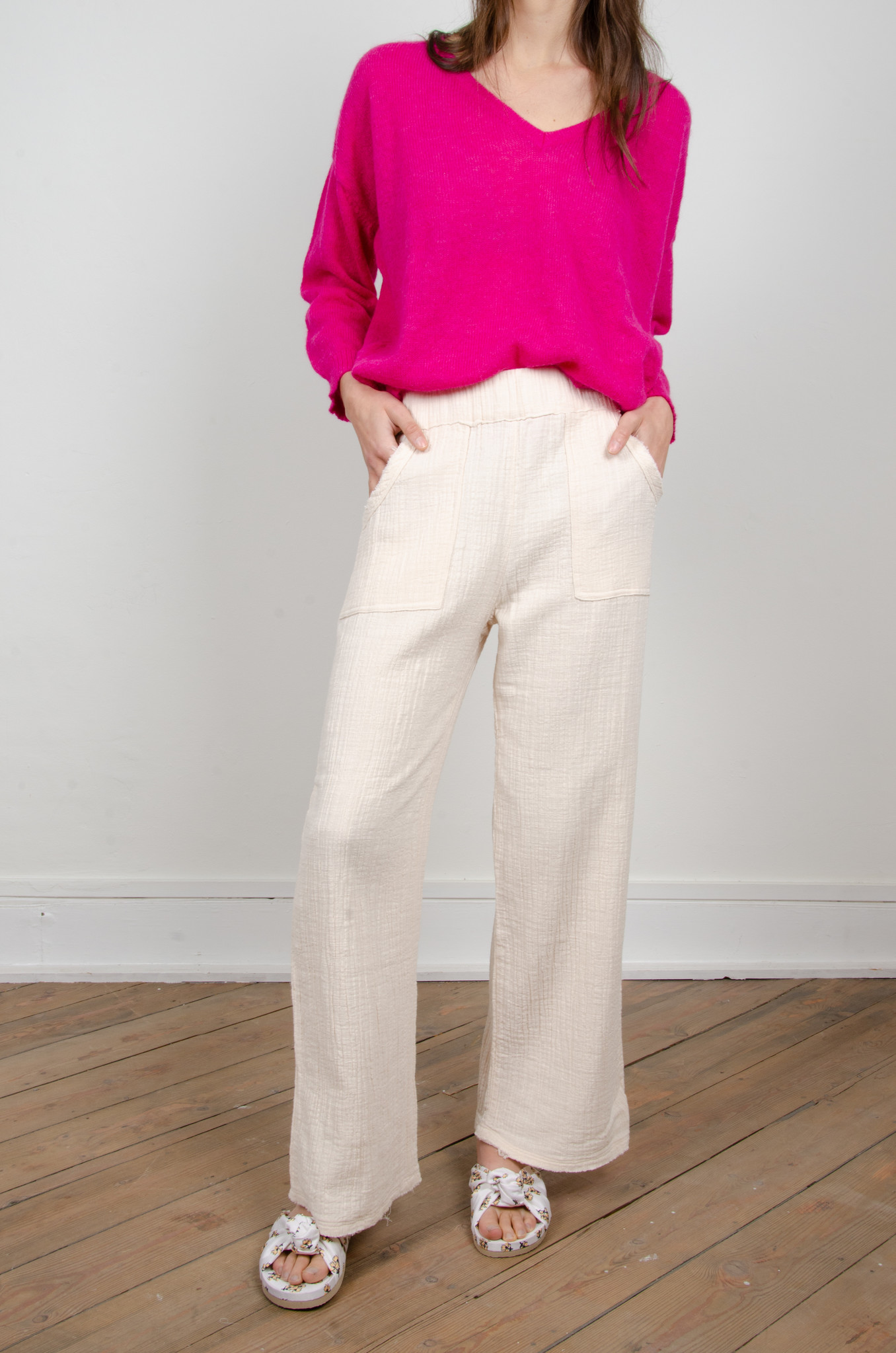 BAMBOO TROUSERS OAT-5