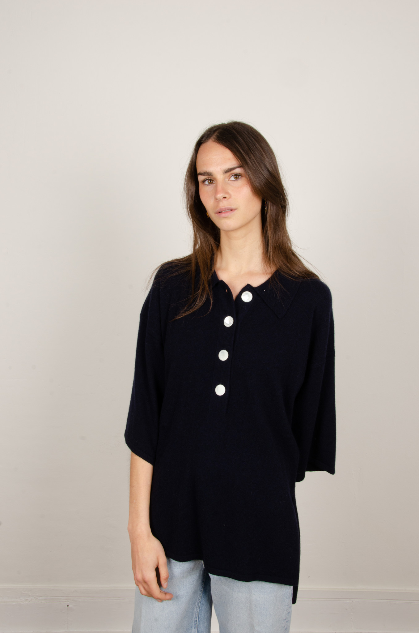 IRENE CASHMERE POLO KNIT-1