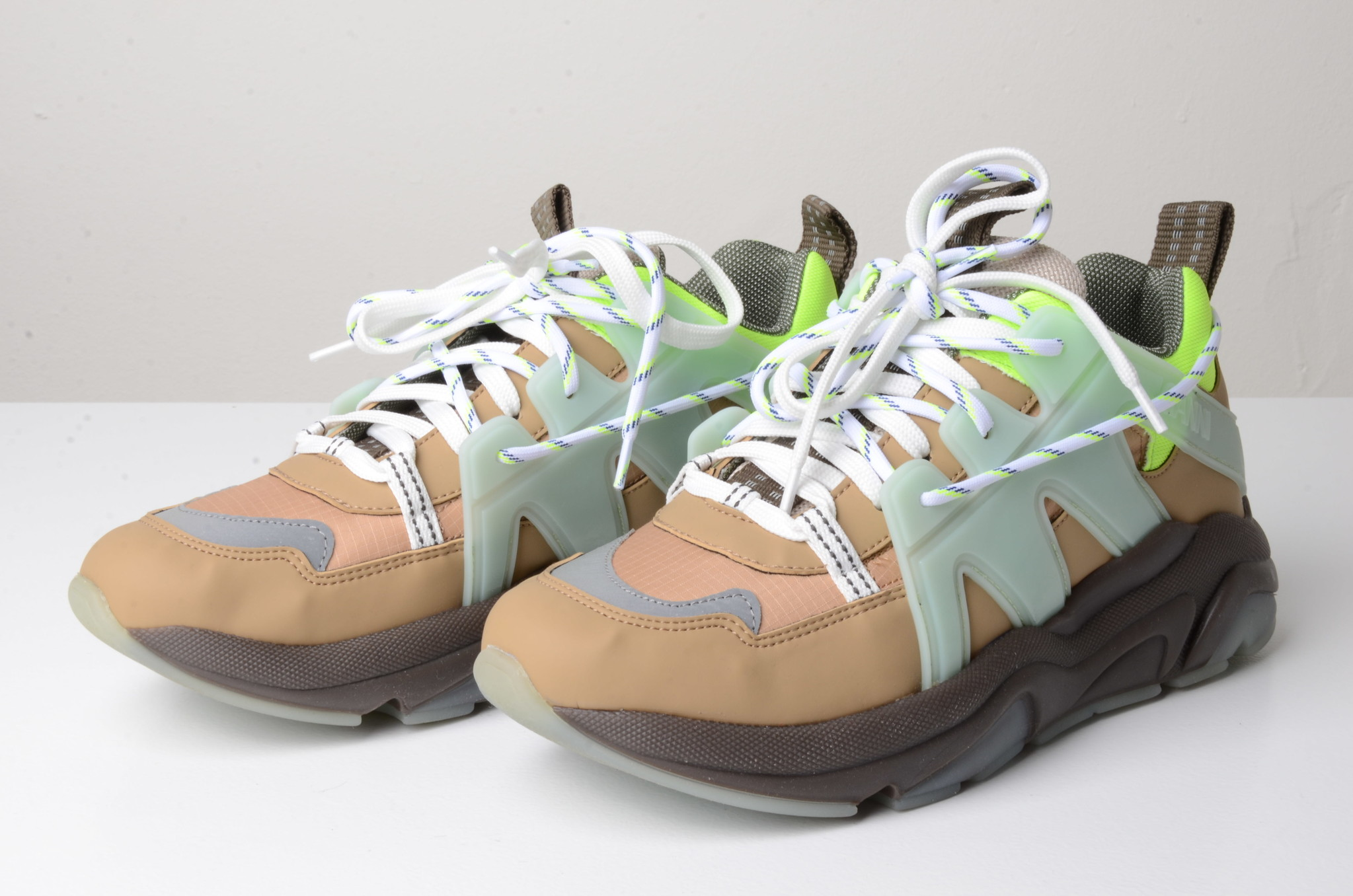NEON PANELLED CHUNKY SNEAKERS-7