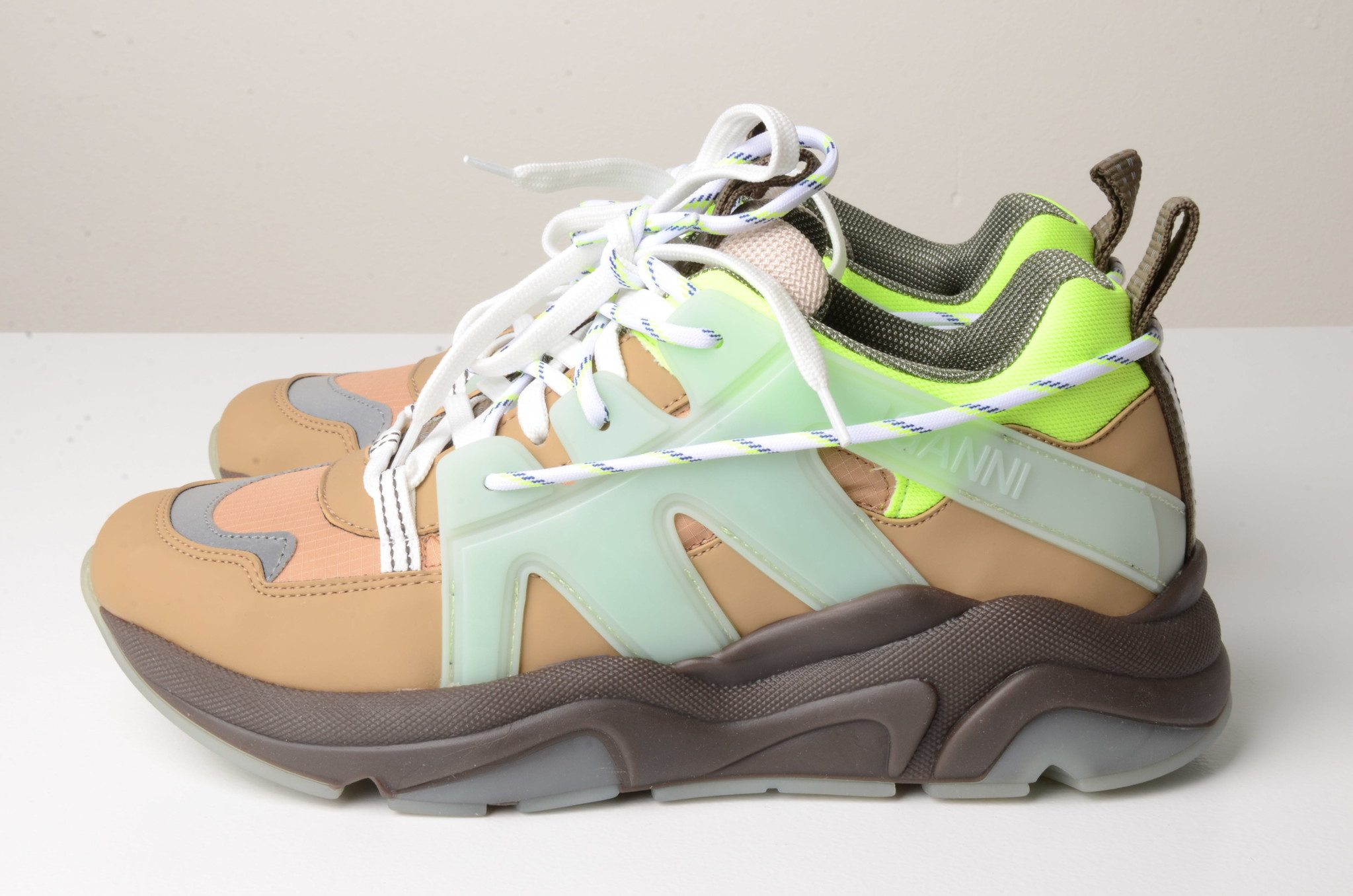 NEON PANELLED CHUNKY SNEAKERS-1