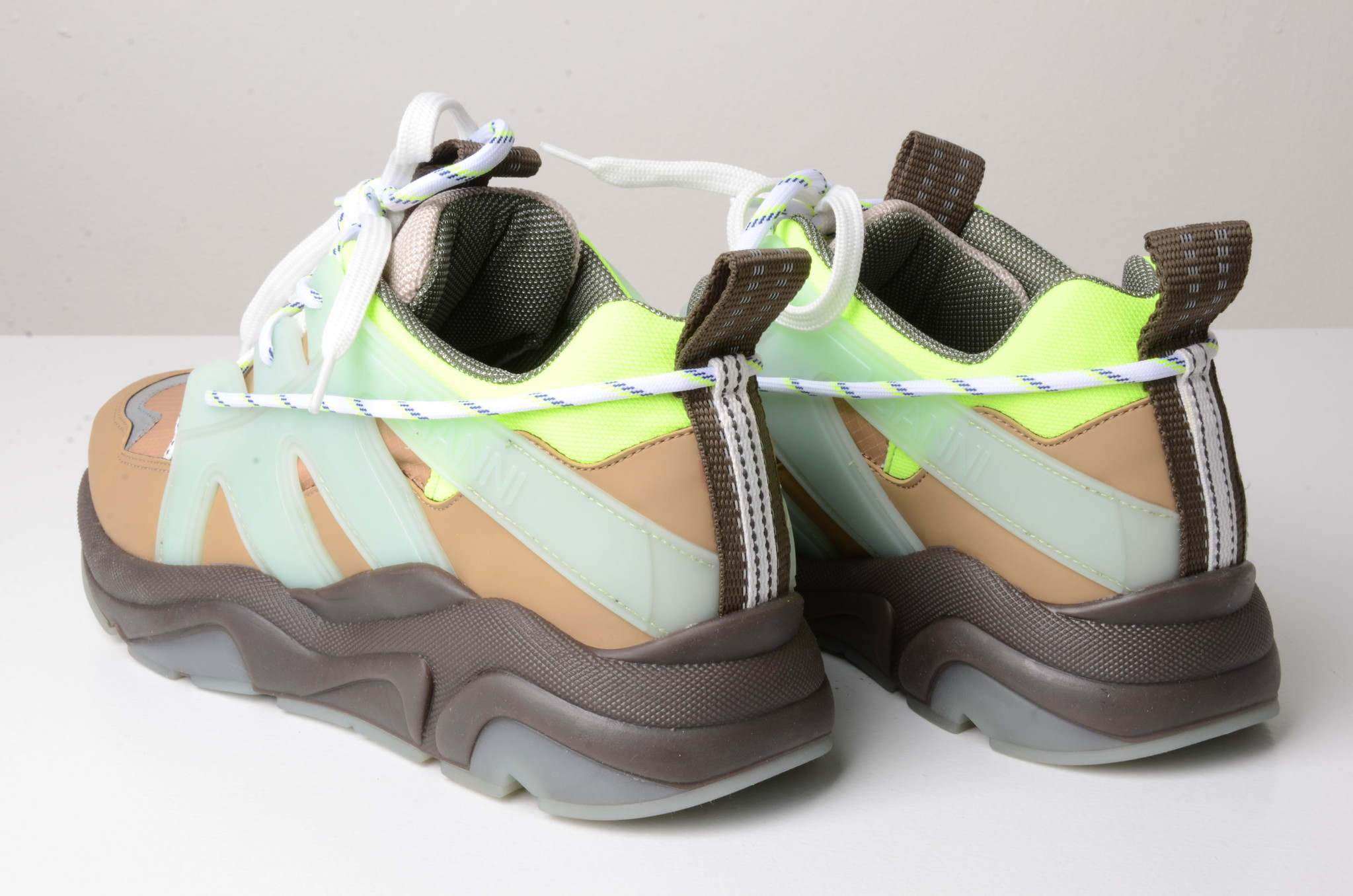 NEON PANELLED CHUNKY SNEAKERS-2
