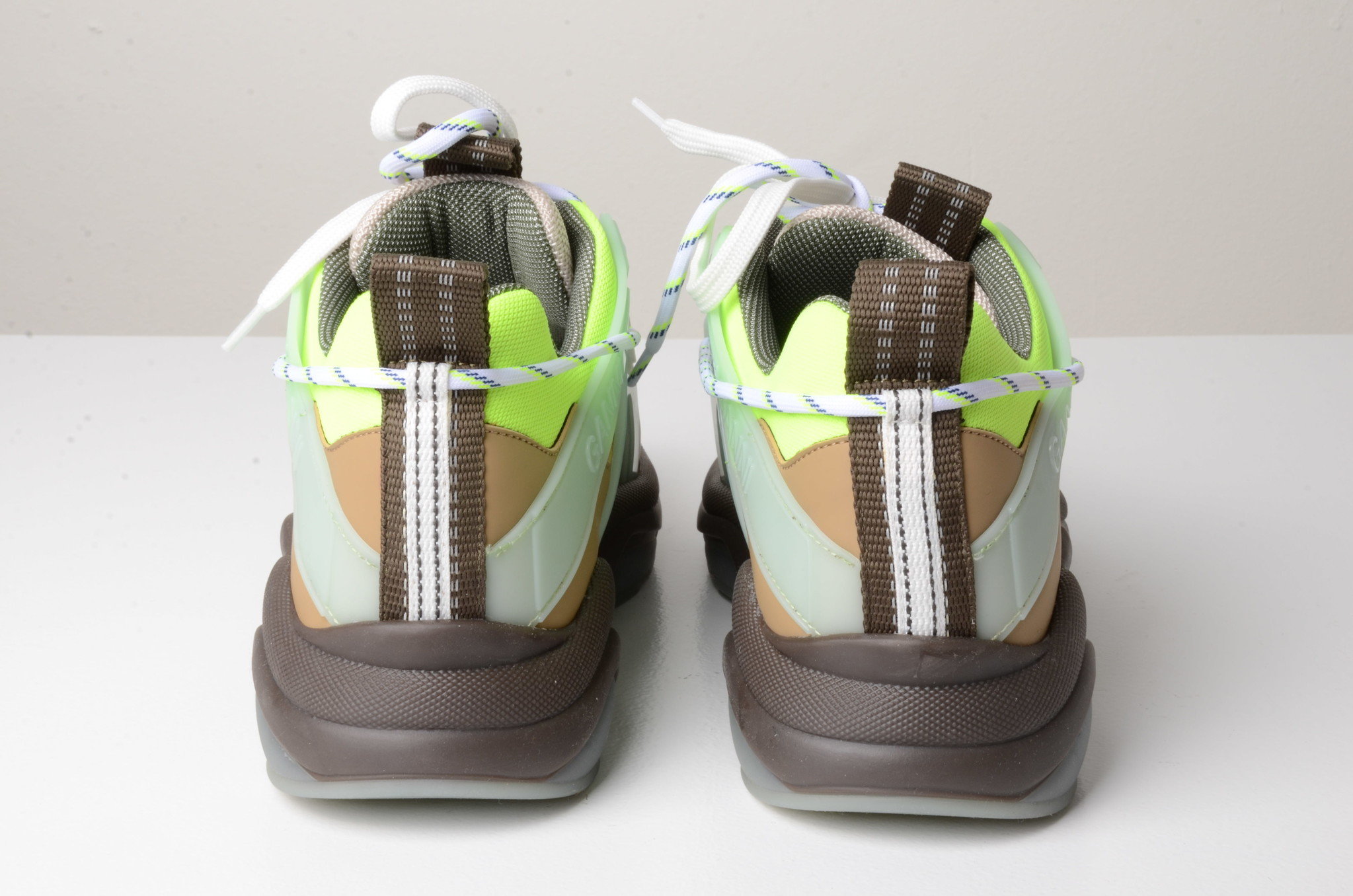 NEON PANELLED CHUNKY SNEAKERS-3