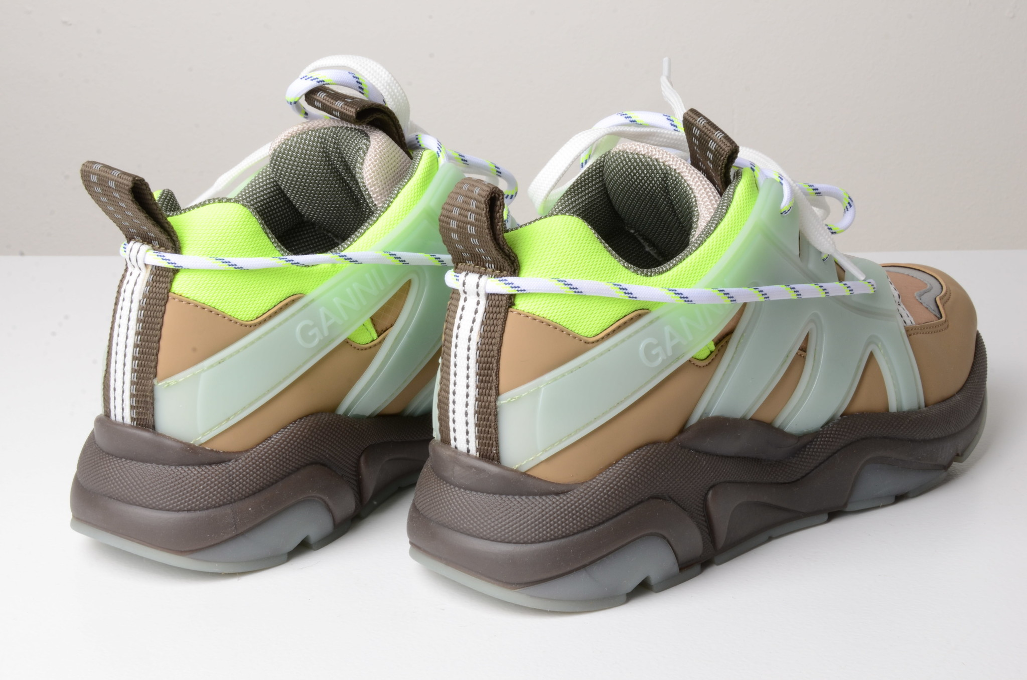 NEON PANELLED CHUNKY SNEAKERS-4