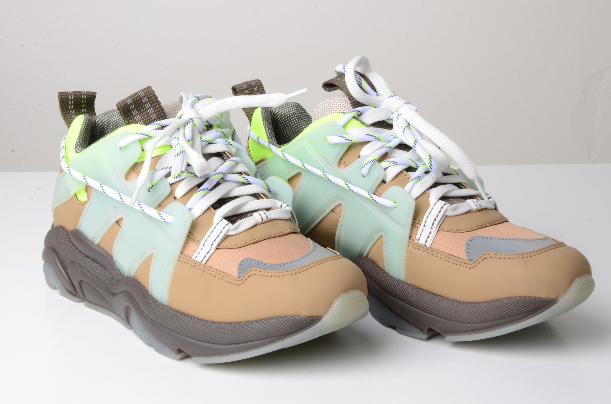 NEON PANELLED CHUNKY SNEAKERS-5