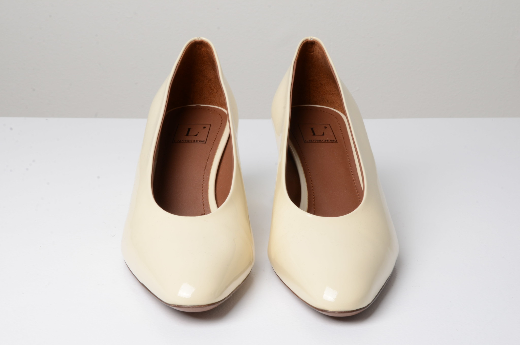 PATENT LEATHER SHOES CREAM-5