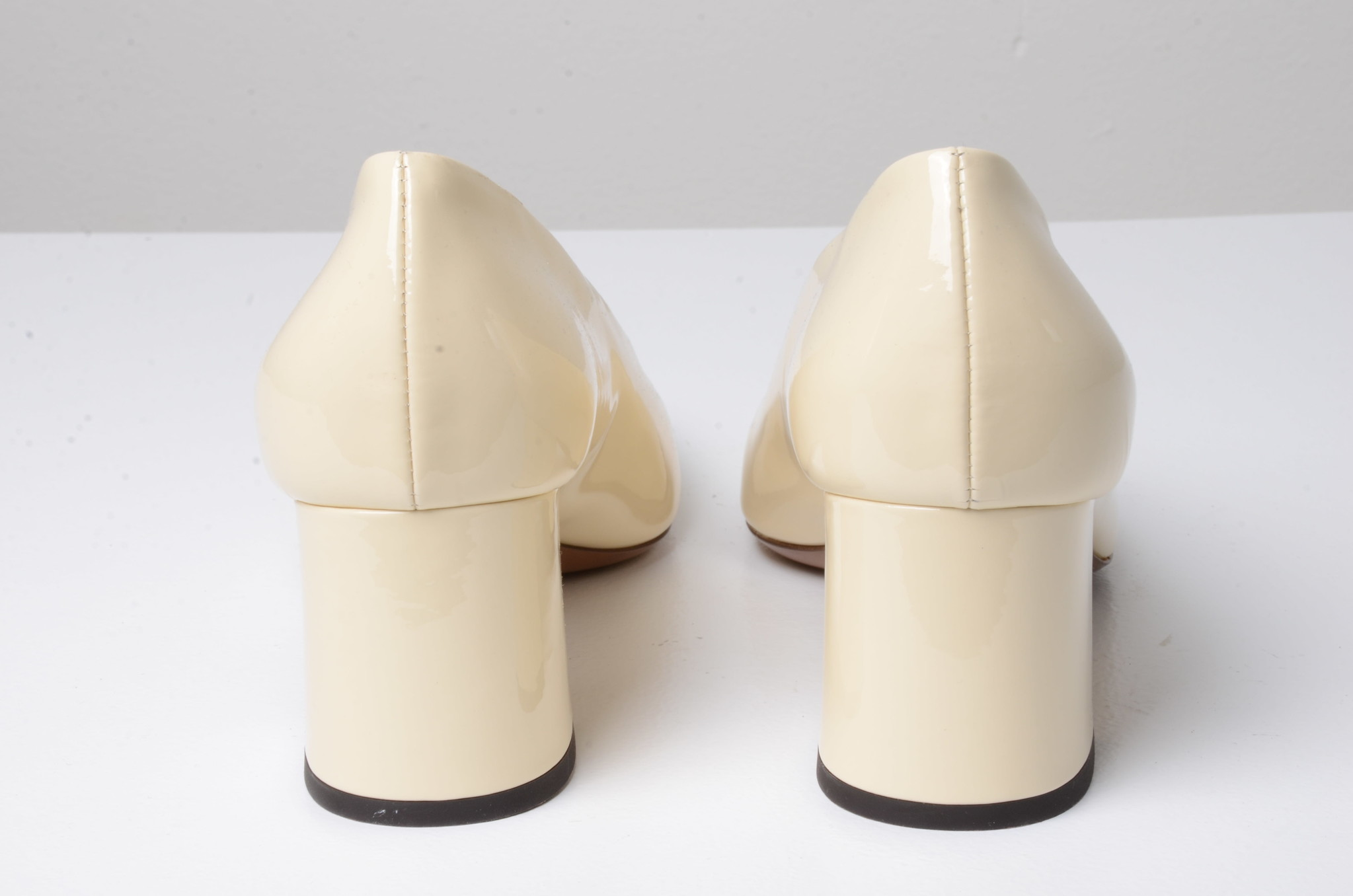 PATENT LEATHER SHOES CREAM-3