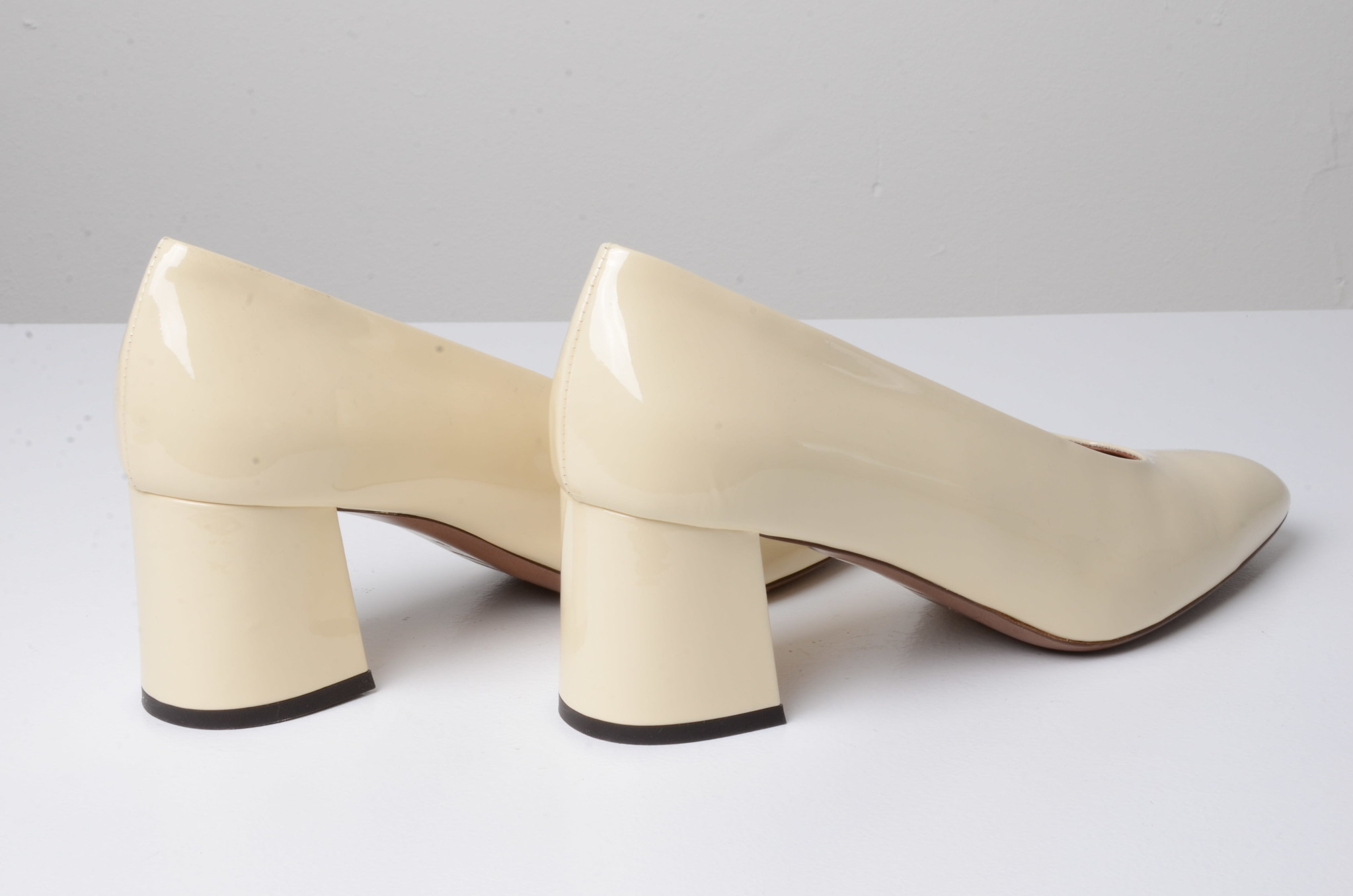PATENT LEATHER SHOES CREAM-4