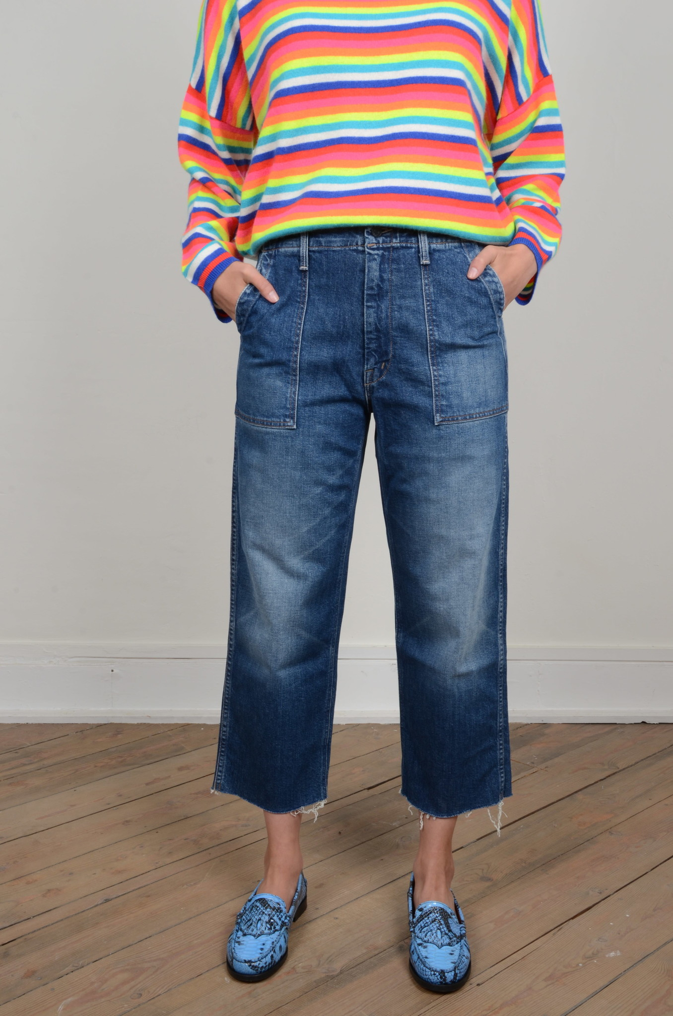 THE PATCH POCKET ZIP PRIVATE ANKLE FRAY-1