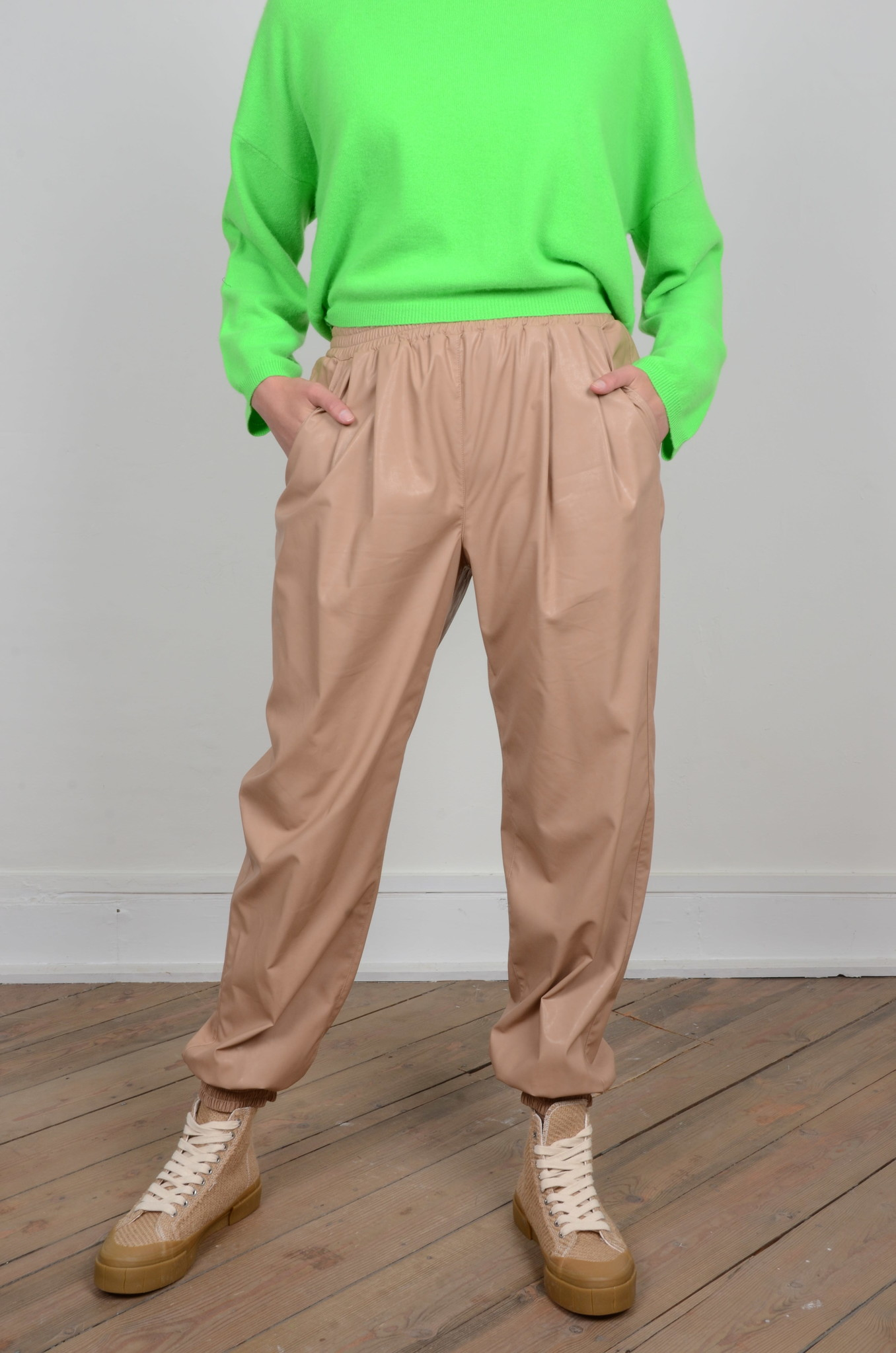 FAUX LEATHER JOGGERS-1