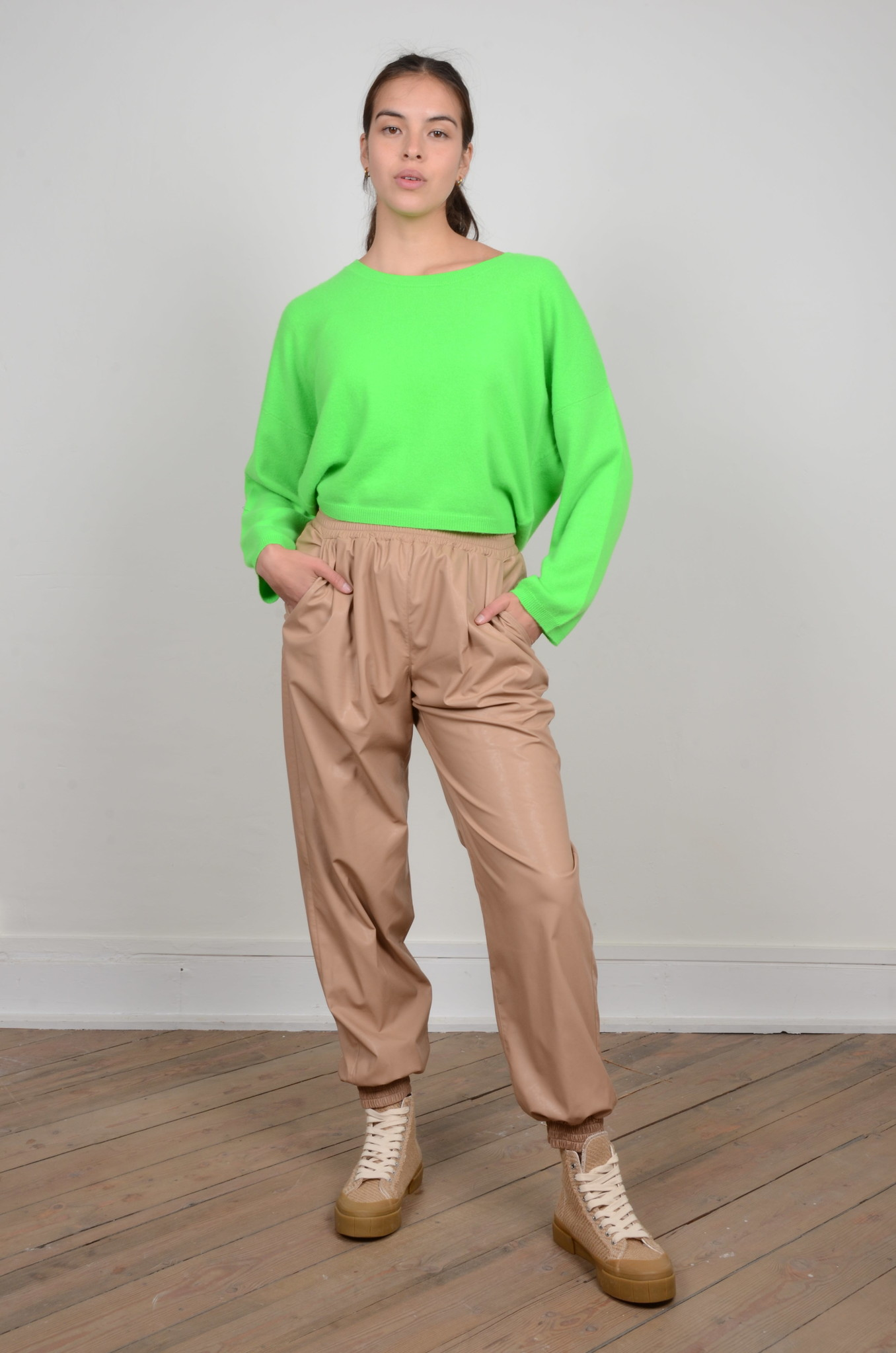 FAUX LEATHER JOGGERS-5