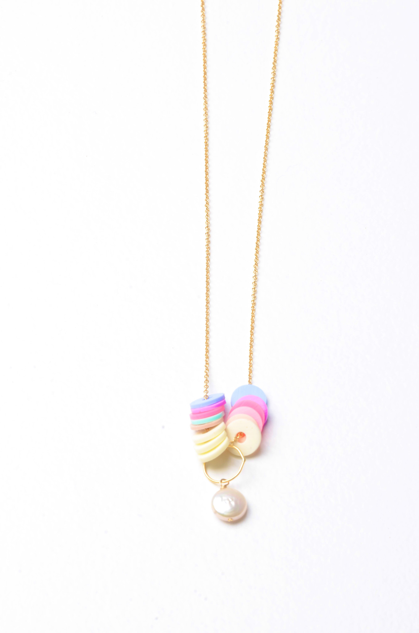 VINYL PEARLCOIN NECKLACE-1