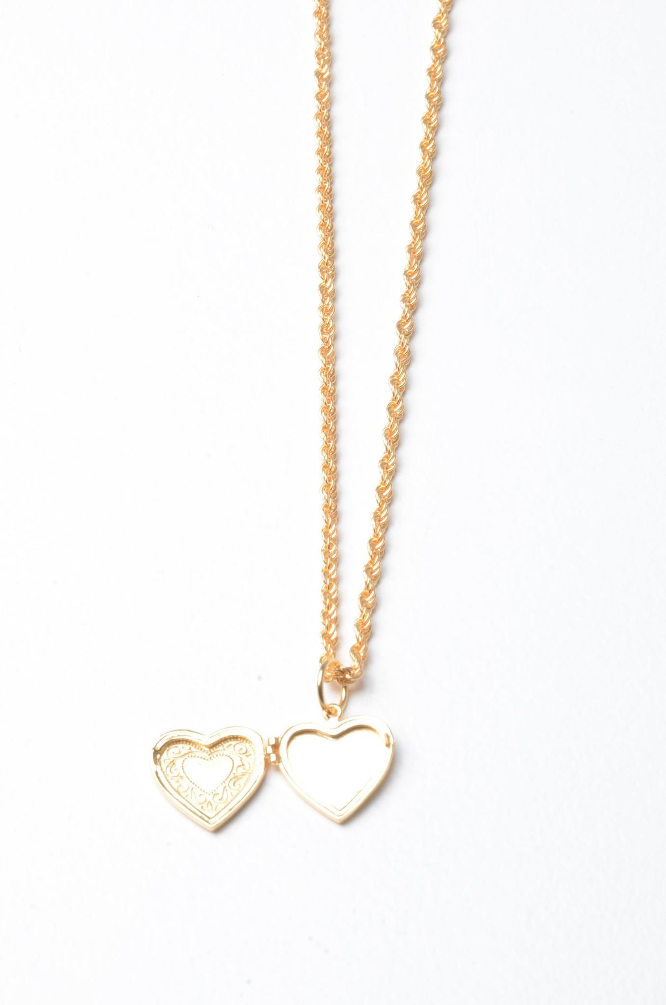 HEART LOCKET NECKLACE-2