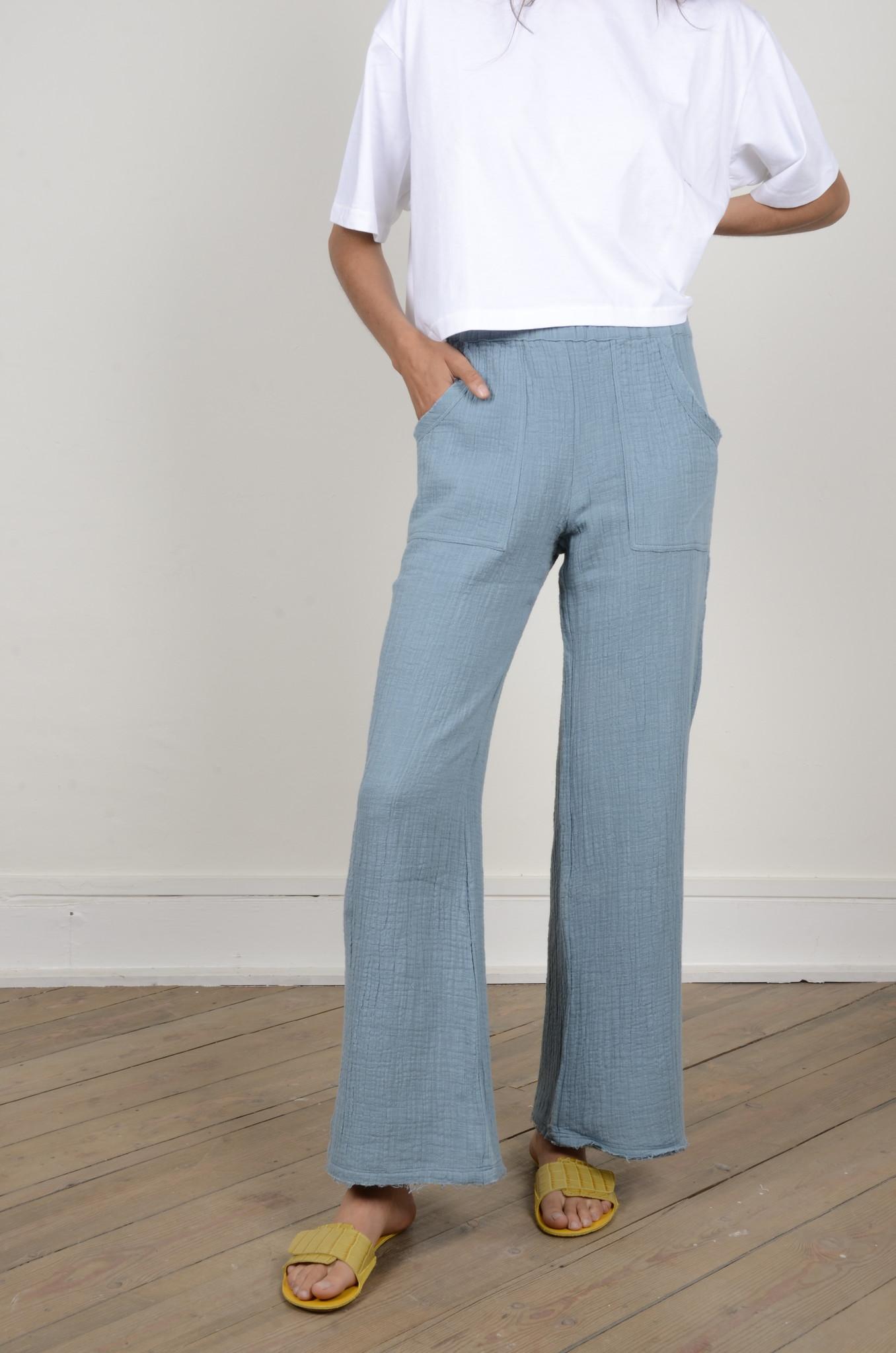 BAMBOO PANTS LAGOON BLUE-5