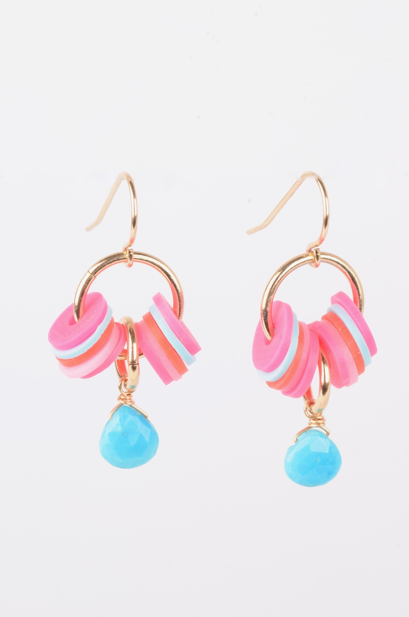 VINYL AND TURQUOISE EARRINGS-1