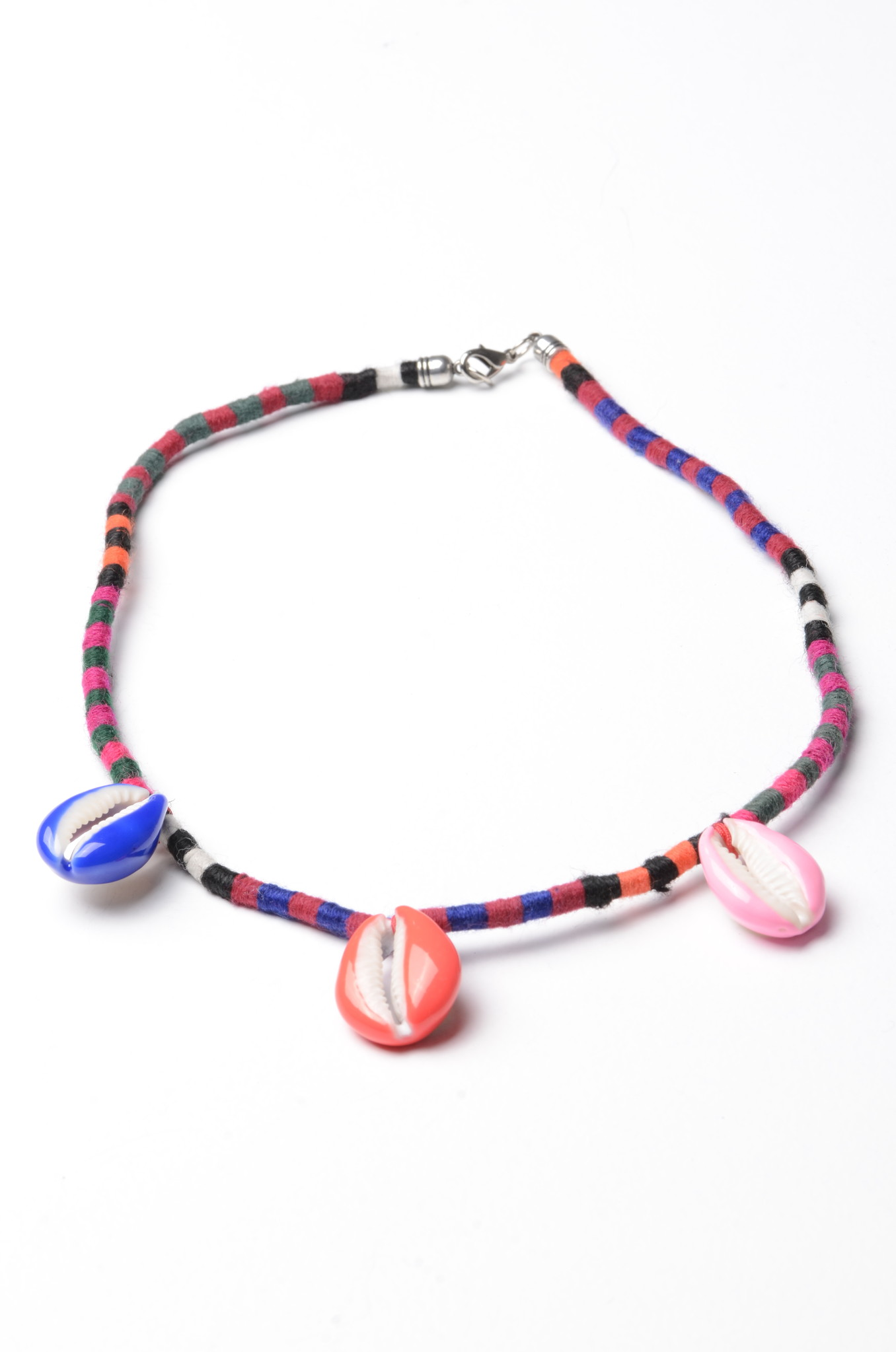 MIXED SHELLS NECKLACE OR ANKLET-1