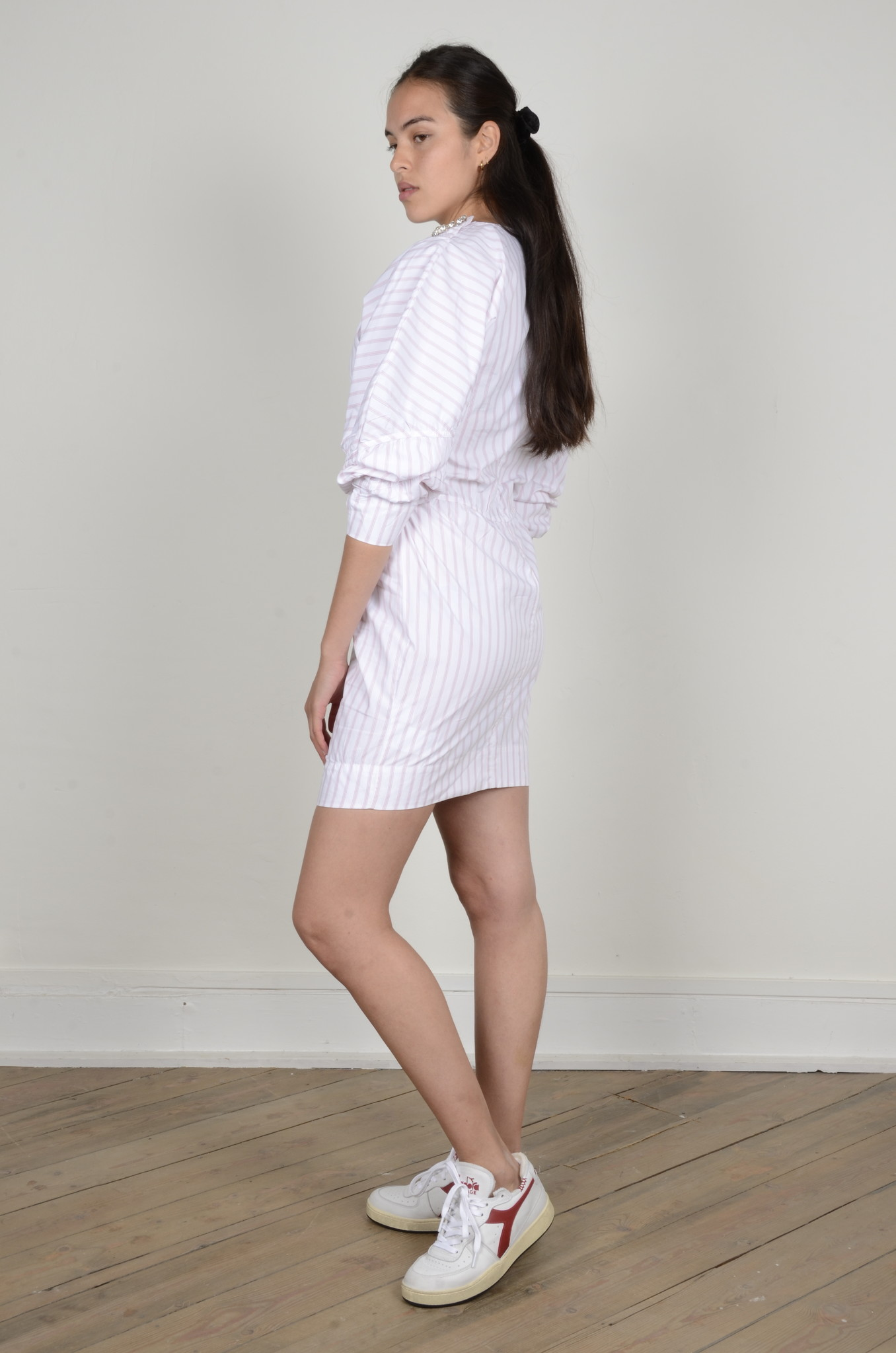 STRIPE COTTON DRESS-2