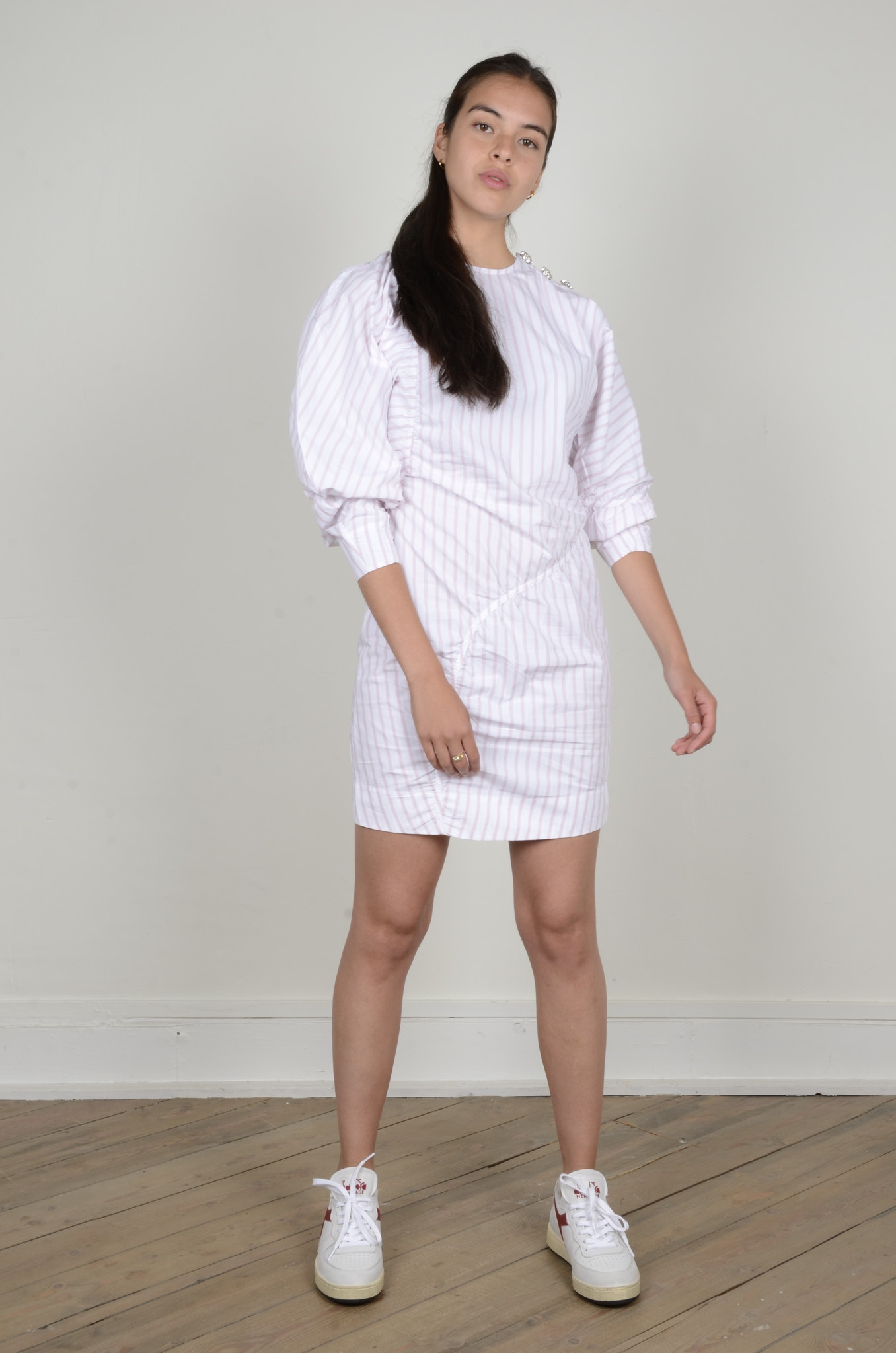 STRIPE COTTON DRESS-1