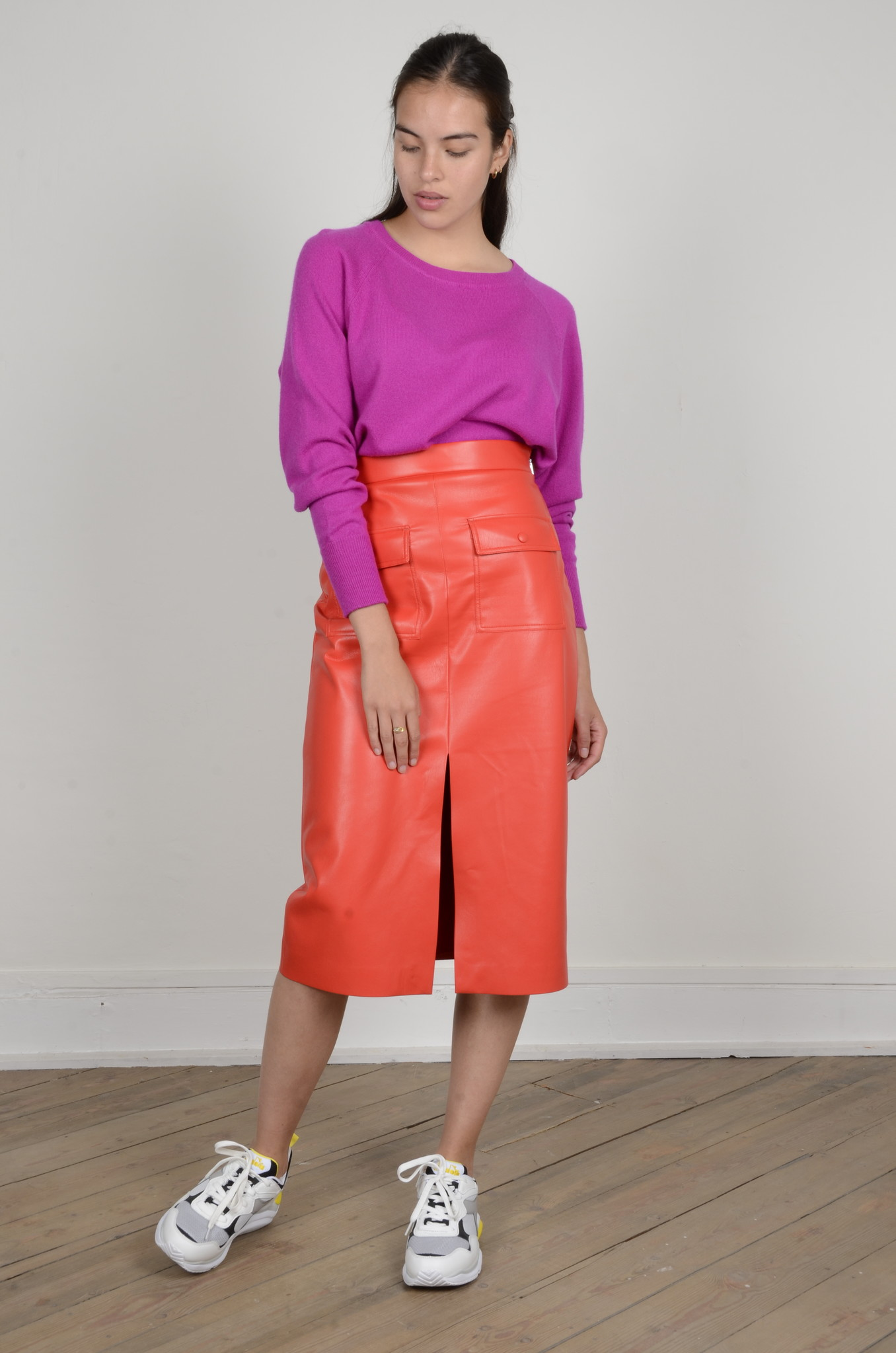 CAROLINA CASHMERE KNIT IN DAHLIA-5