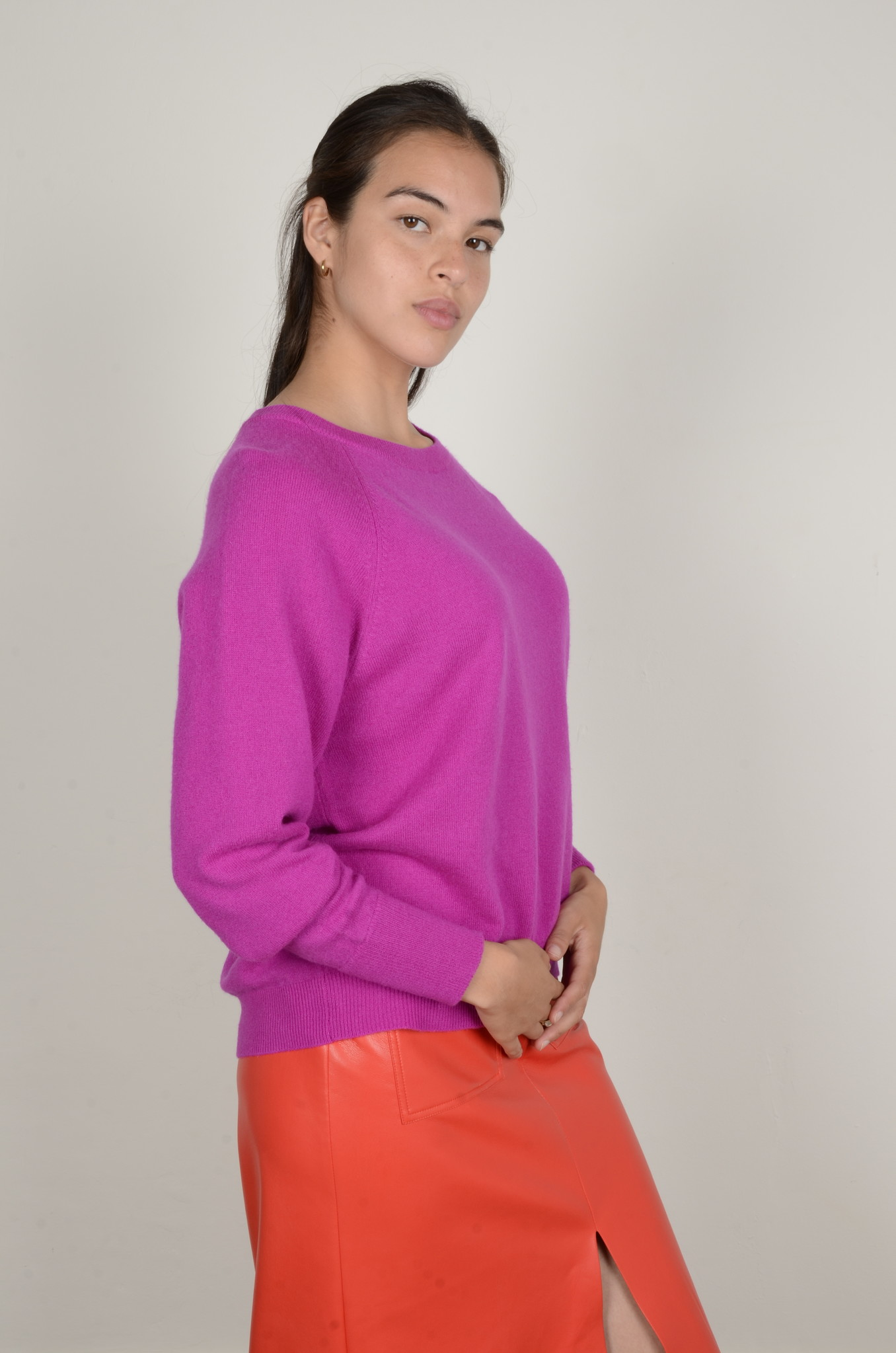 CAROLINA CASHMERE KNIT IN DAHLIA-4