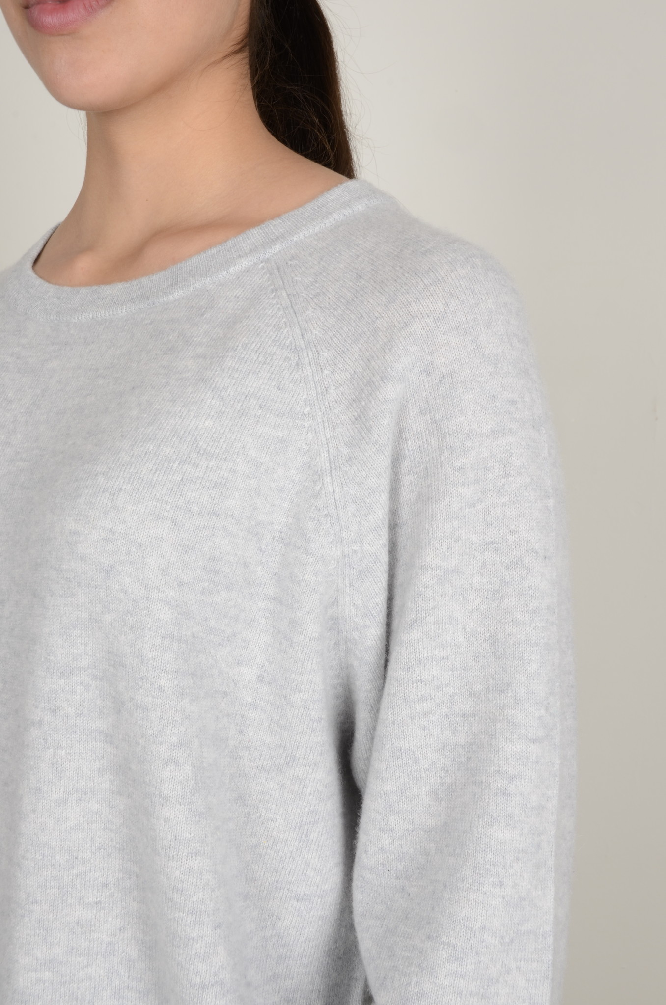 CAROLINA CASHMERE KNIT IN LIGHT GREY-5