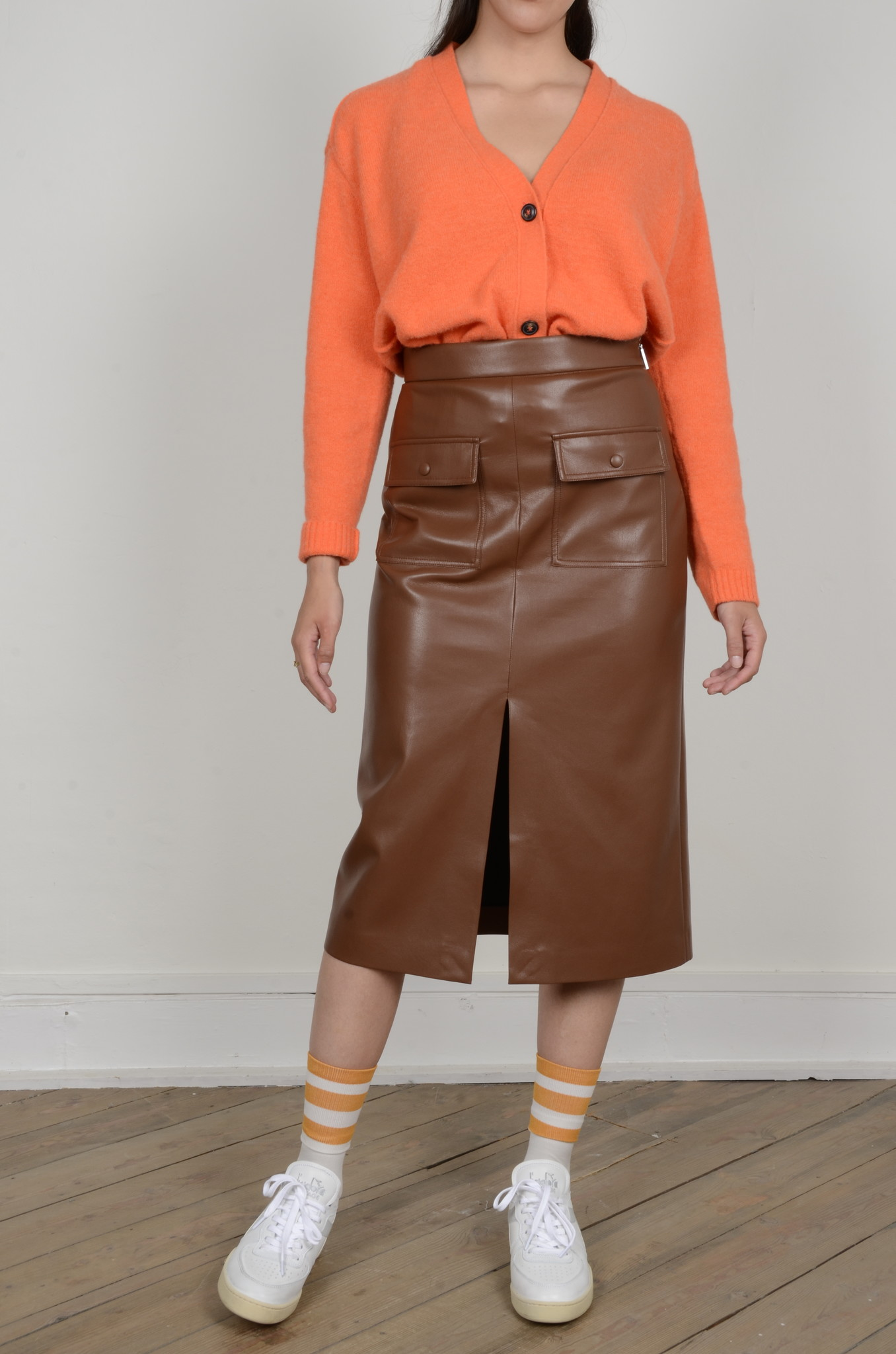 PENCIL SKIRT IN ECO LEATHER-5