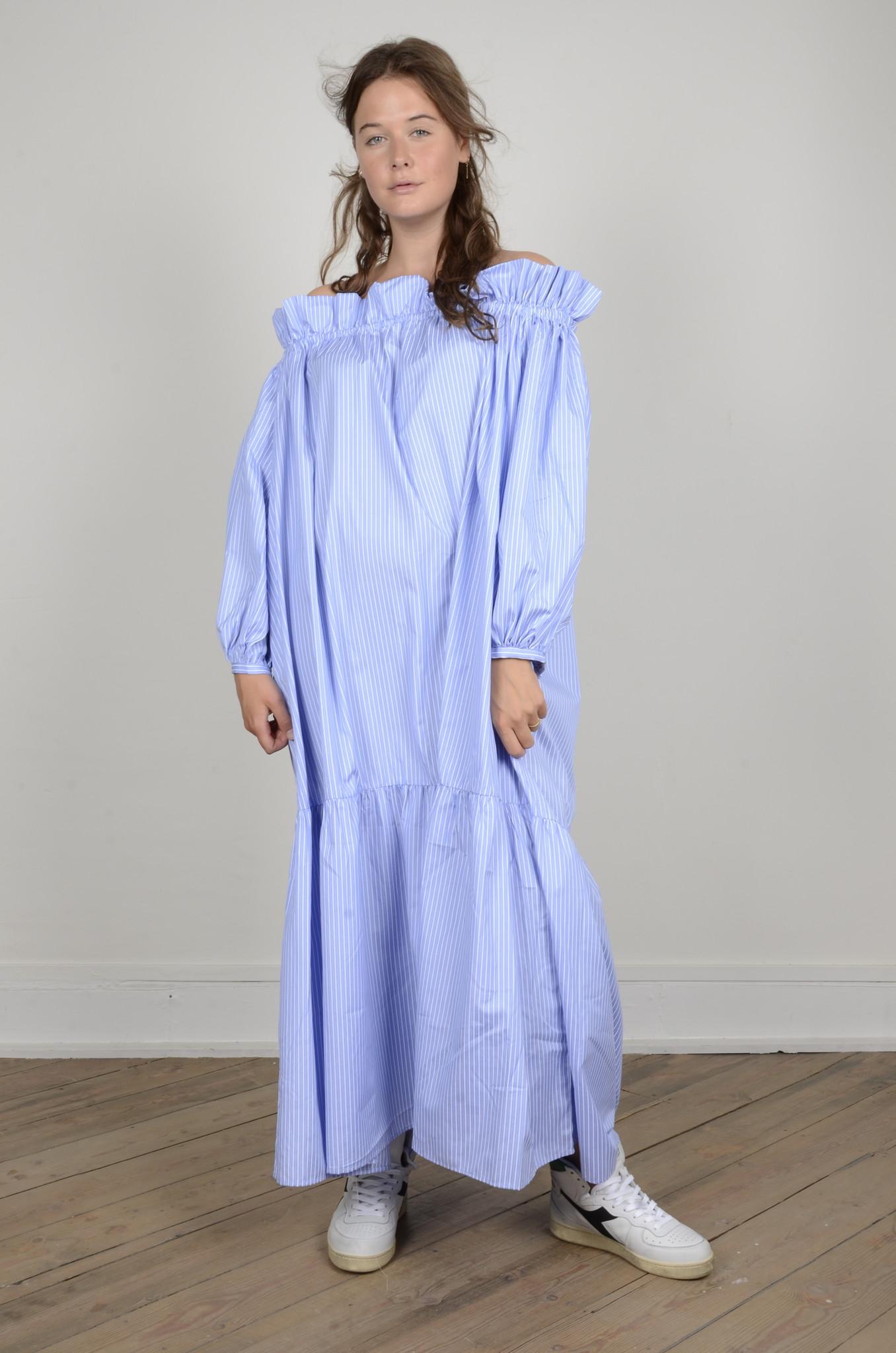 MANON OFF SHOULDER DRESS STRIPED-1