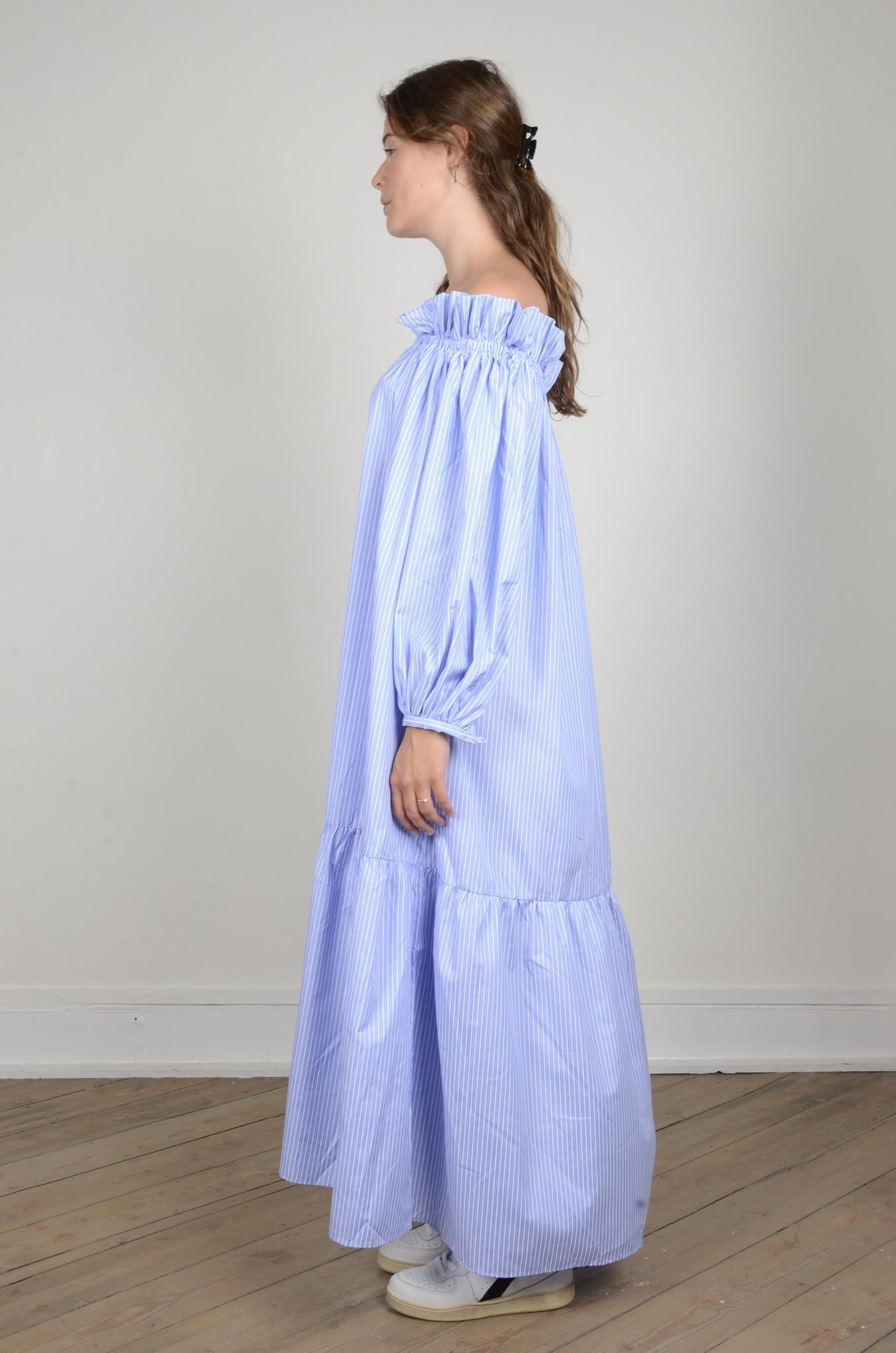MANON OFF SHOULDER DRESS STRIPED-2