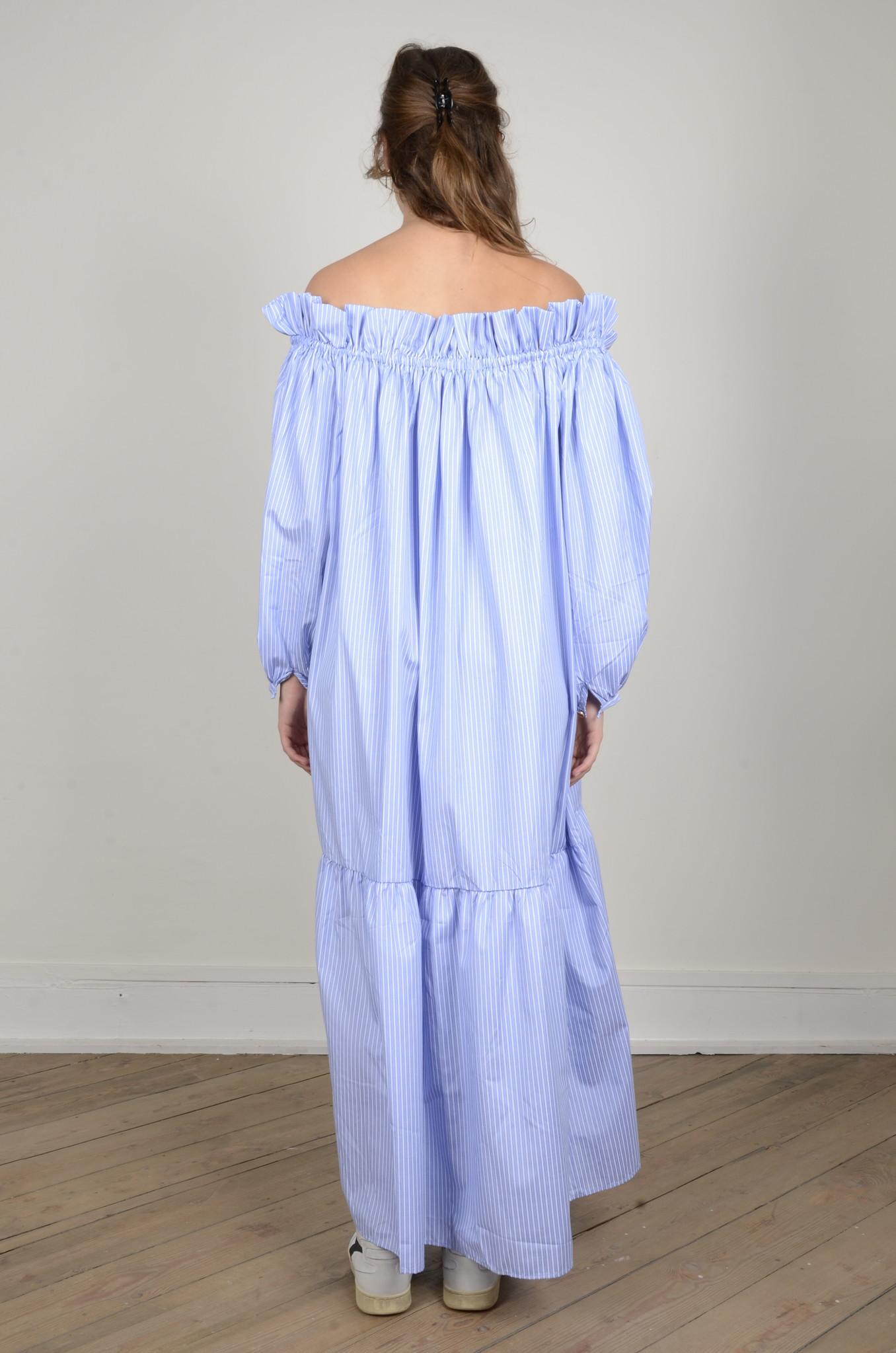 MANON OFF SHOULDER DRESS STRIPED-3