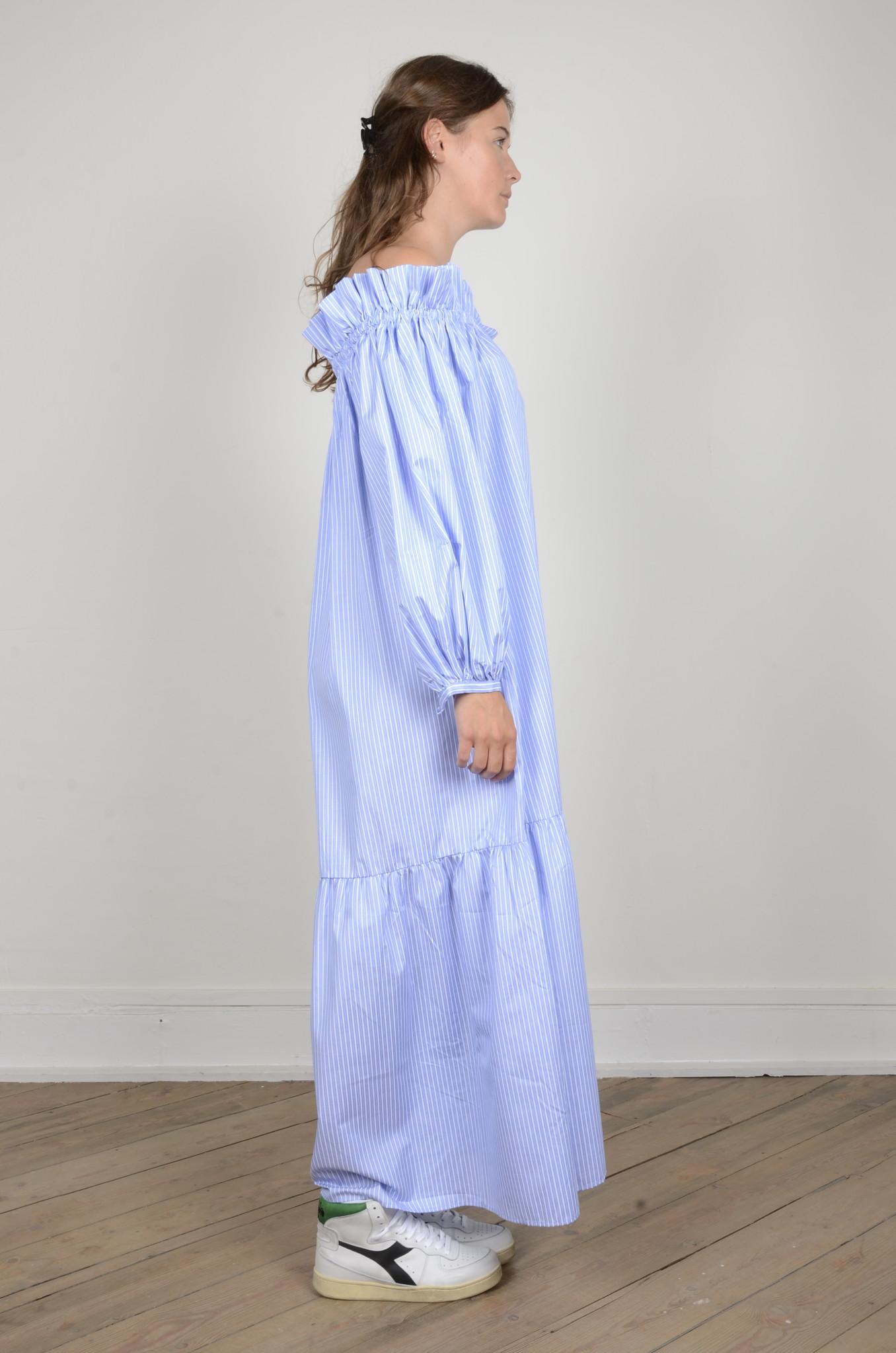 MANON OFF SHOULDER DRESS STRIPED-4