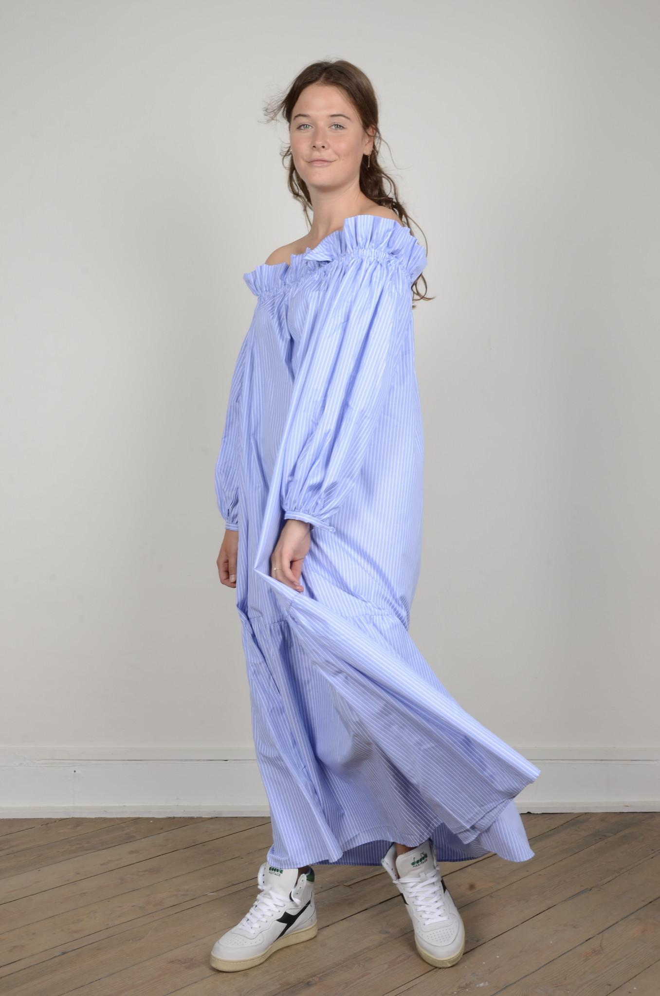 MANON OFF SHOULDER DRESS STRIPED-5