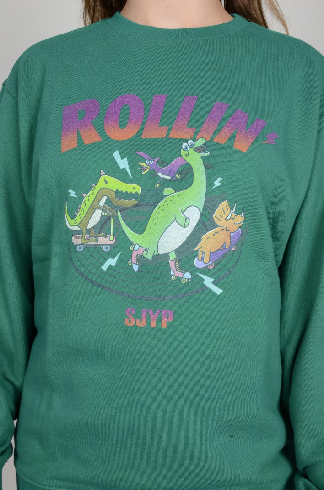 DINO ROLLIN' SWEATSHIRT GREEN-5