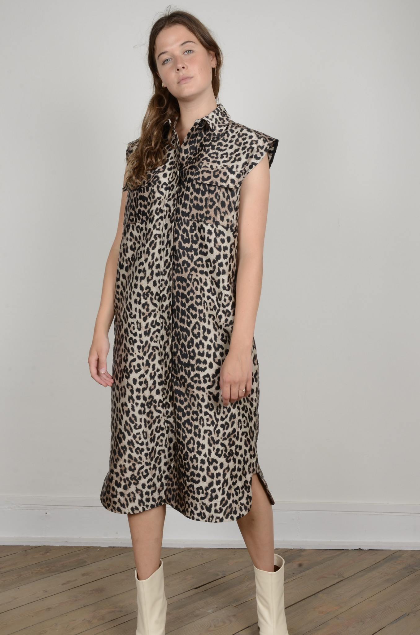 LEOPARD SHIRT DRESS-5