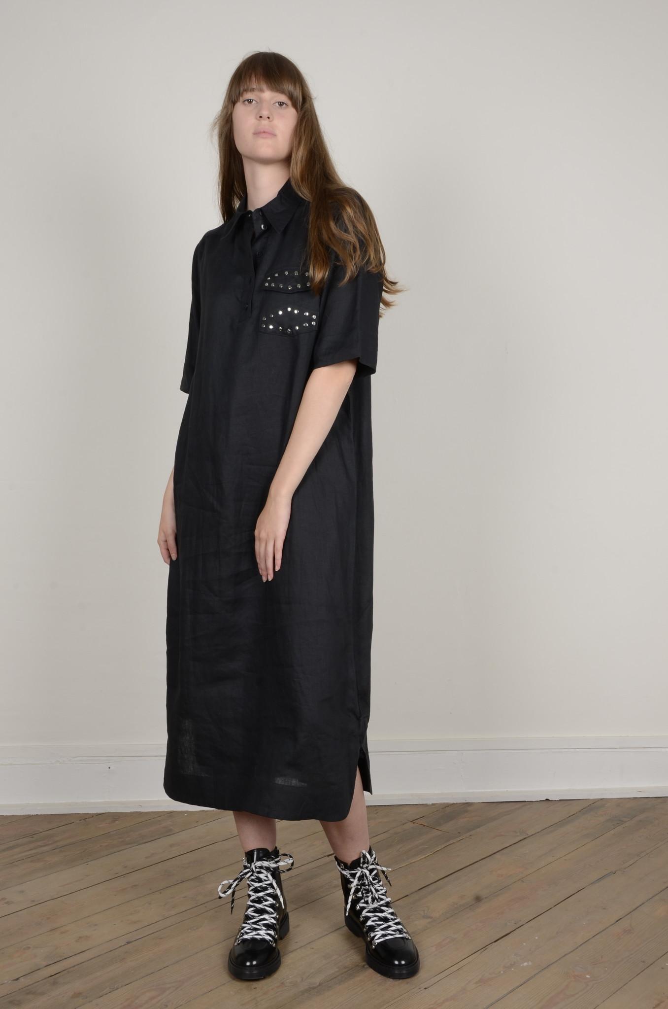 LIGHT LINEN SHIRT DRESS-1