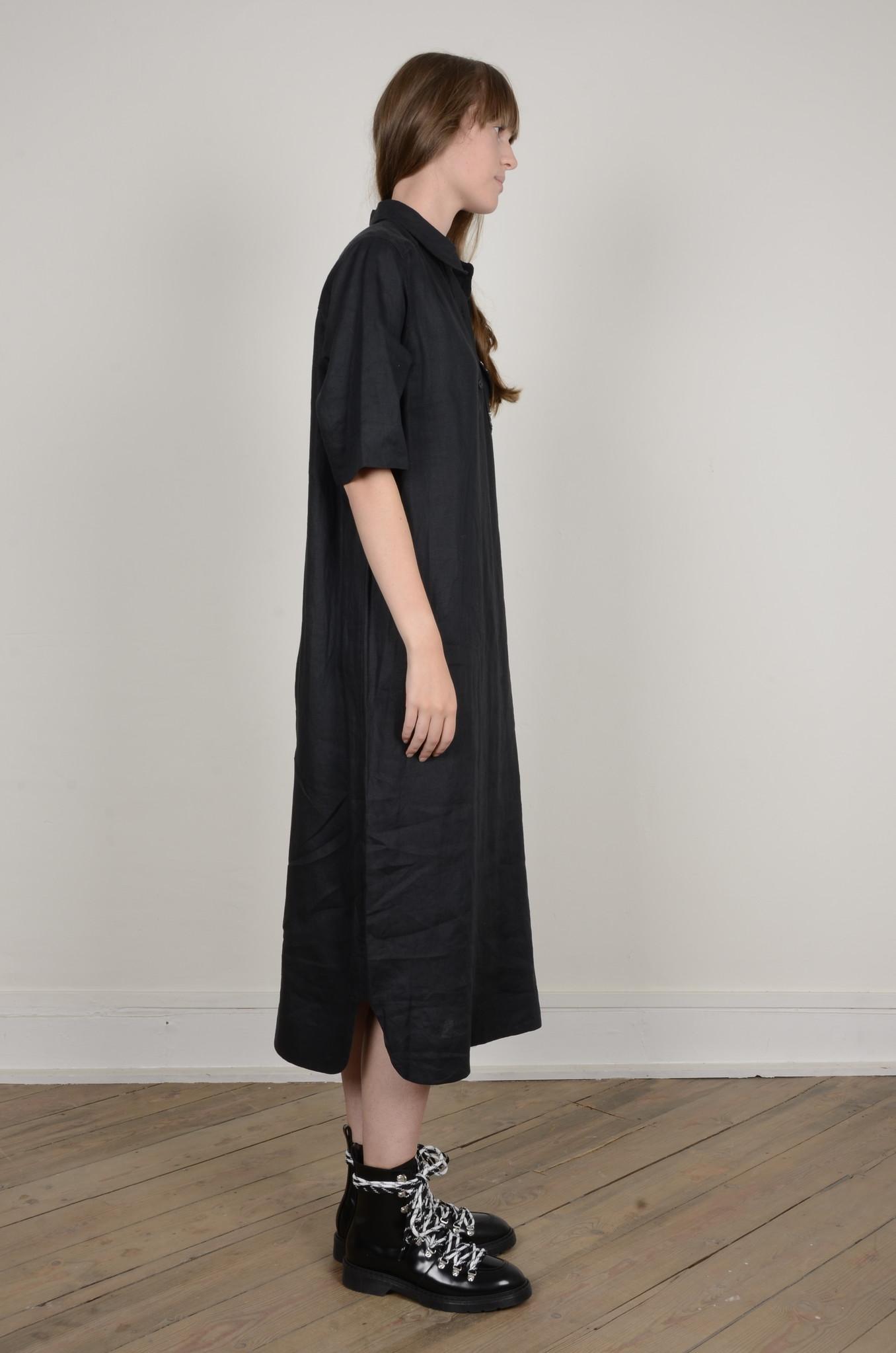 LIGHT LINEN SHIRT DRESS-4