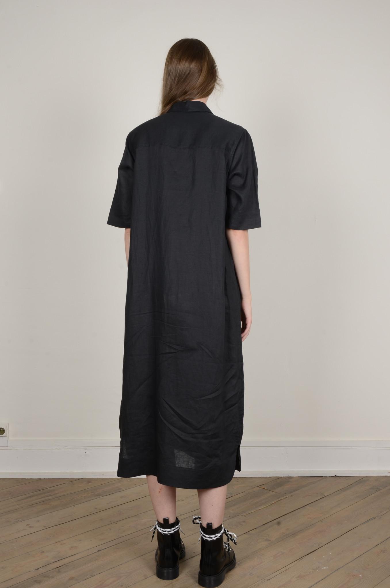 LIGHT LINEN SHIRT DRESS-3