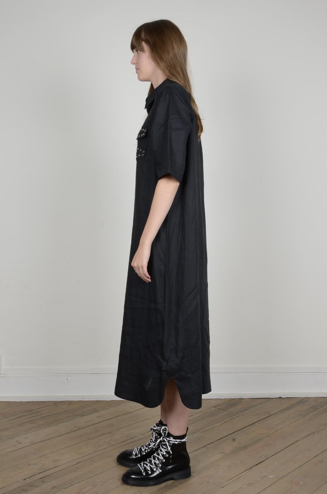 LIGHT LINEN SHIRT DRESS-2