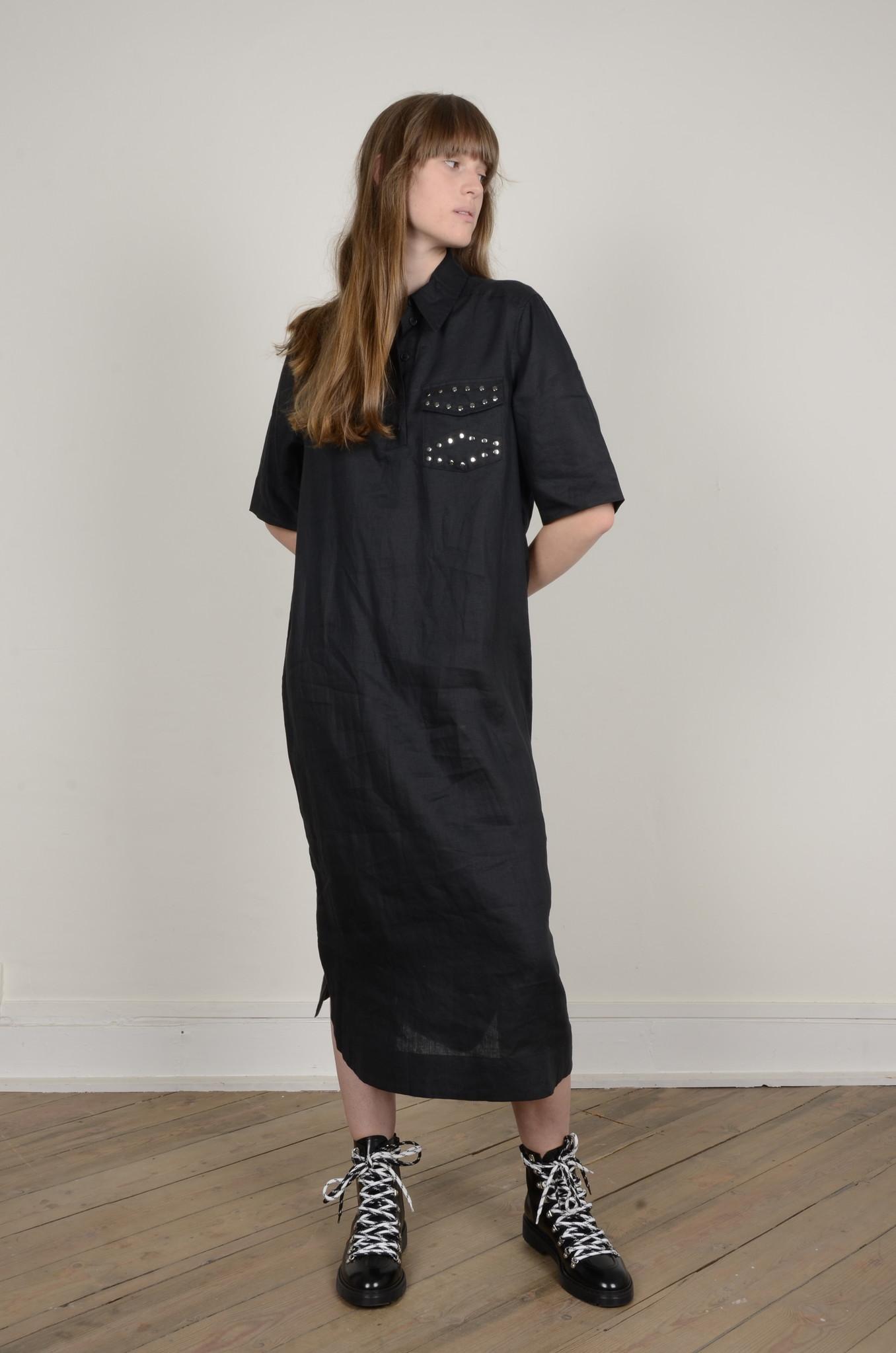LIGHT LINEN SHIRT DRESS-6