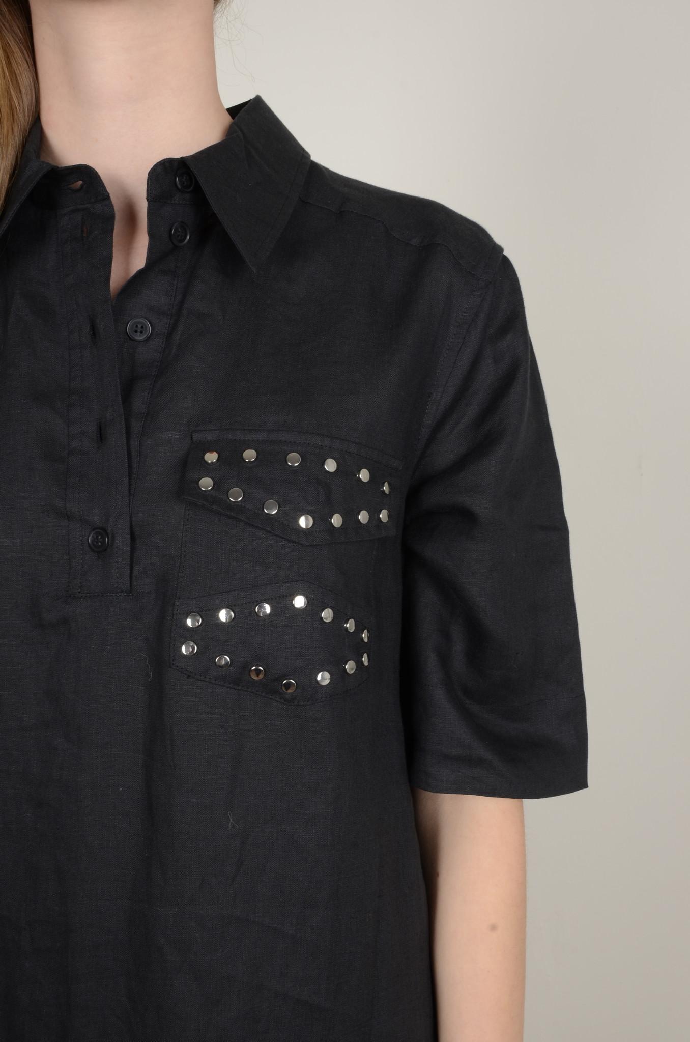 LIGHT LINEN SHIRT DRESS-5