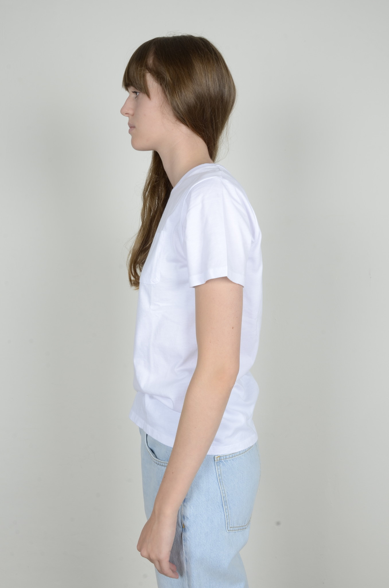 BASIC POCKET TEE WHITE-2