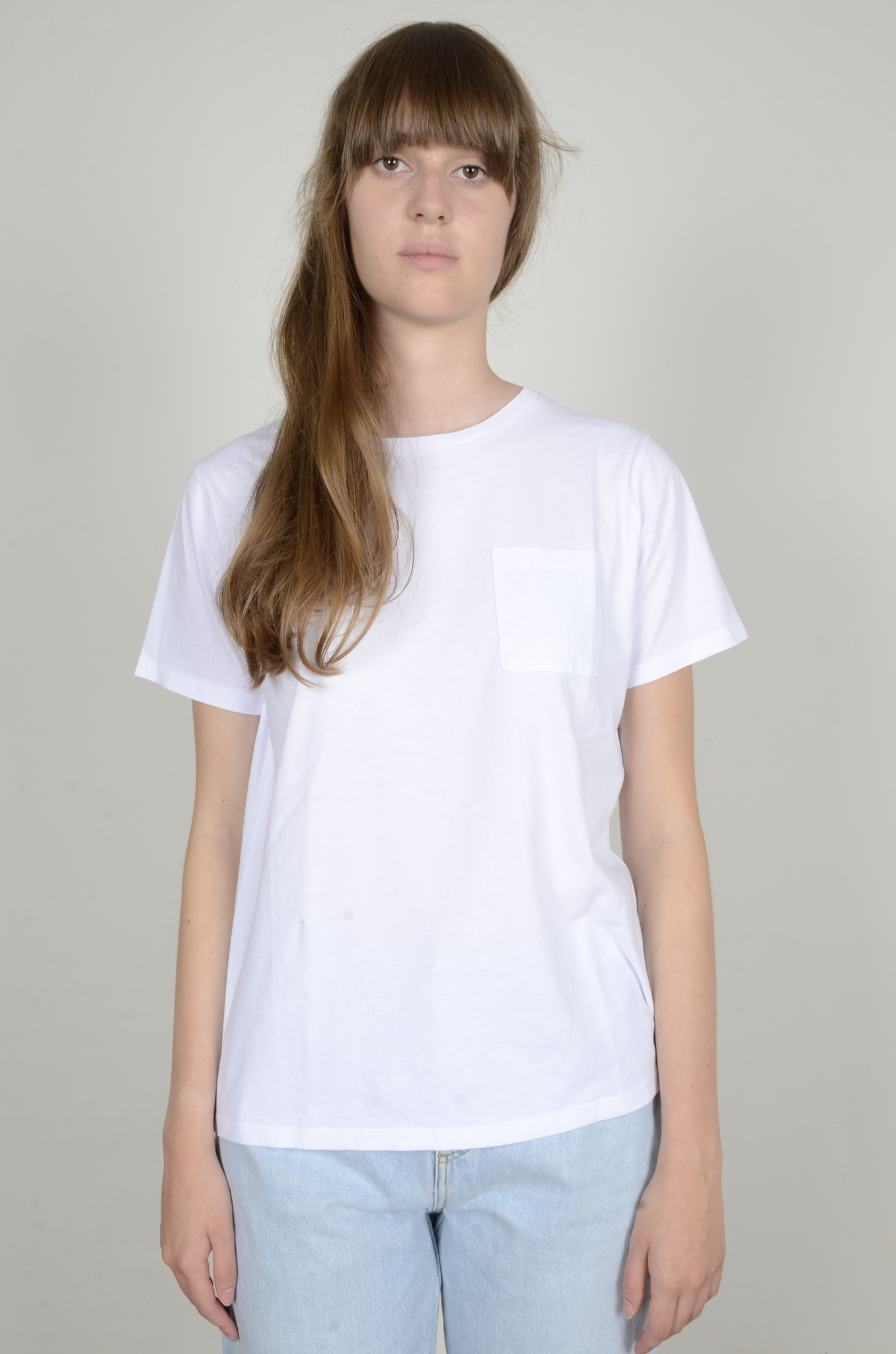 BASIC POCKET TEE WHITE-1