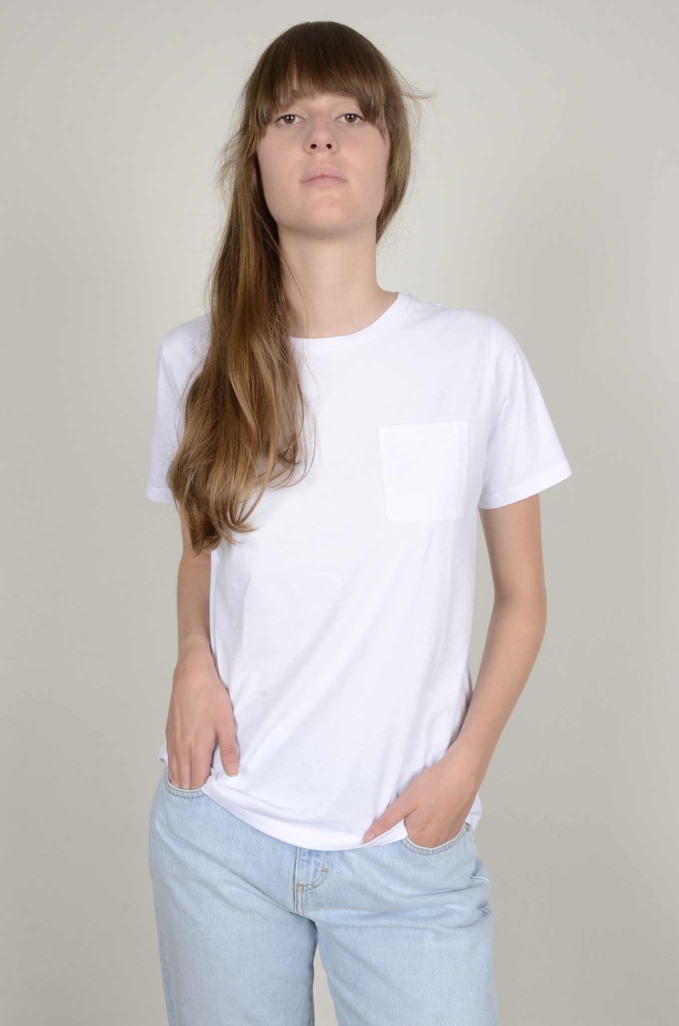 BASIC POCKET TEE WHITE-5