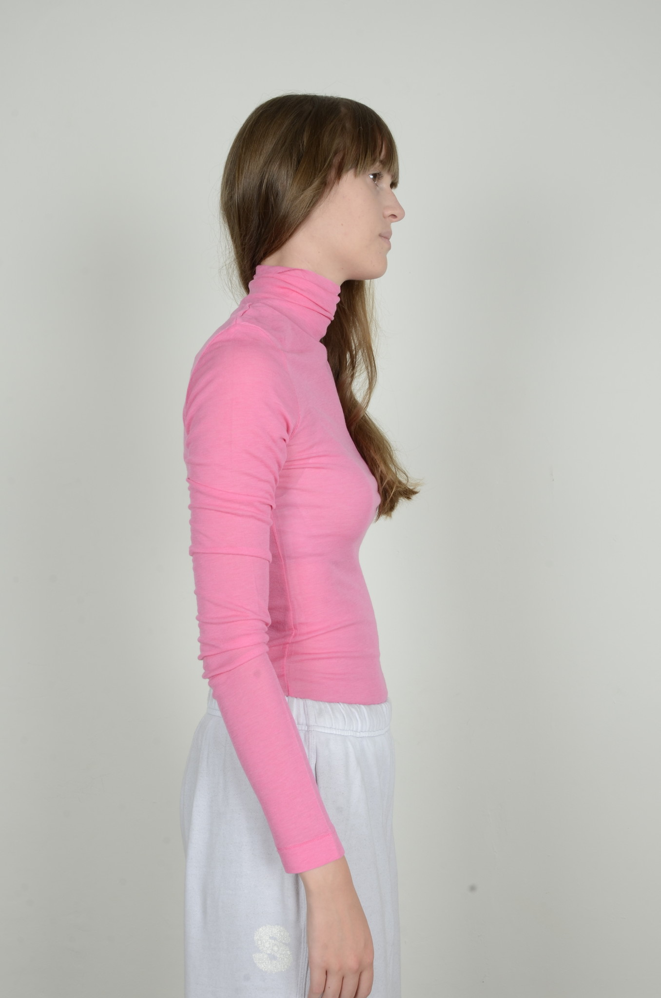 BRIGHT PINK TURTLE NECK-4