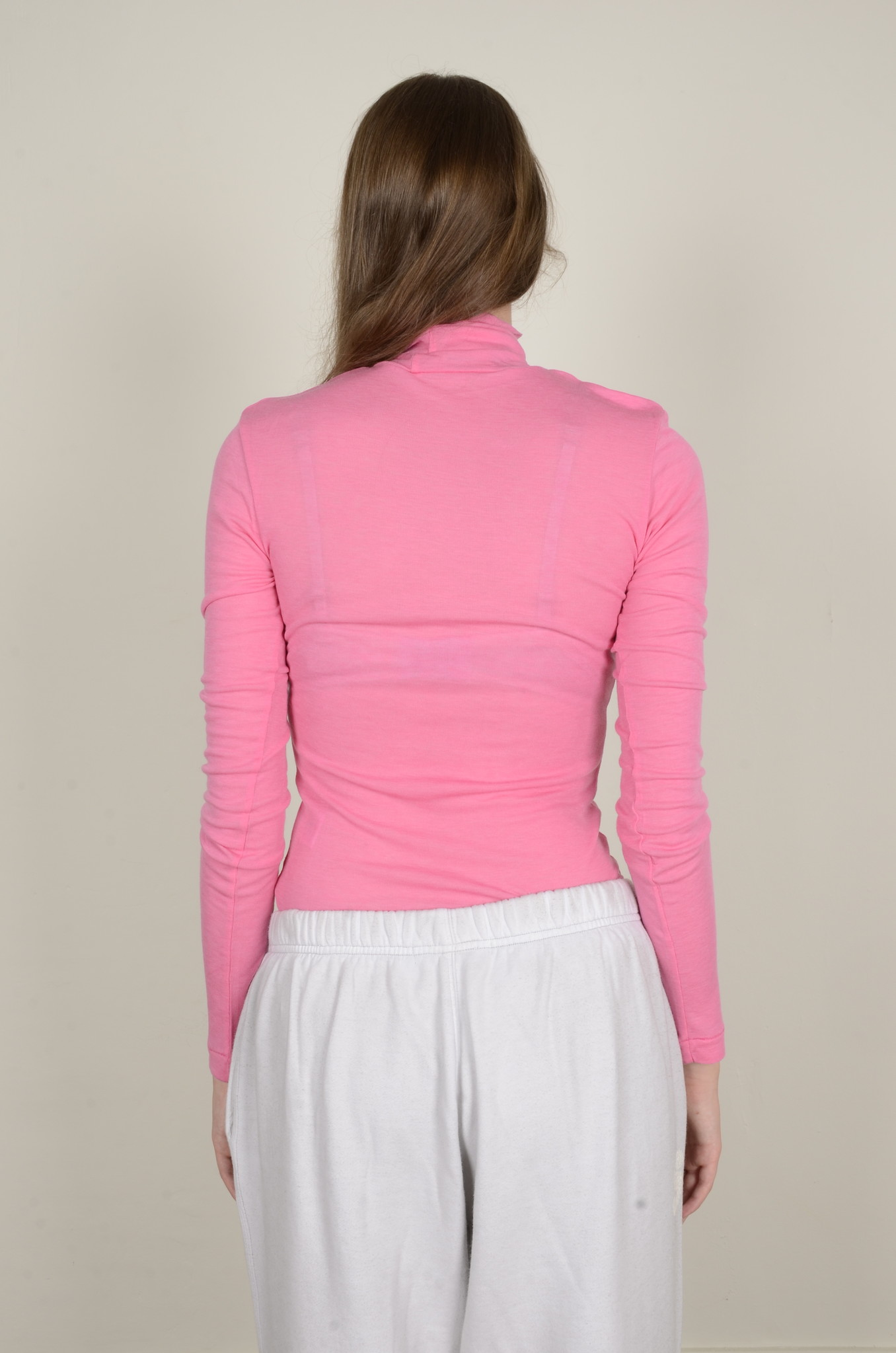 BRIGHT PINK TURTLE NECK-3