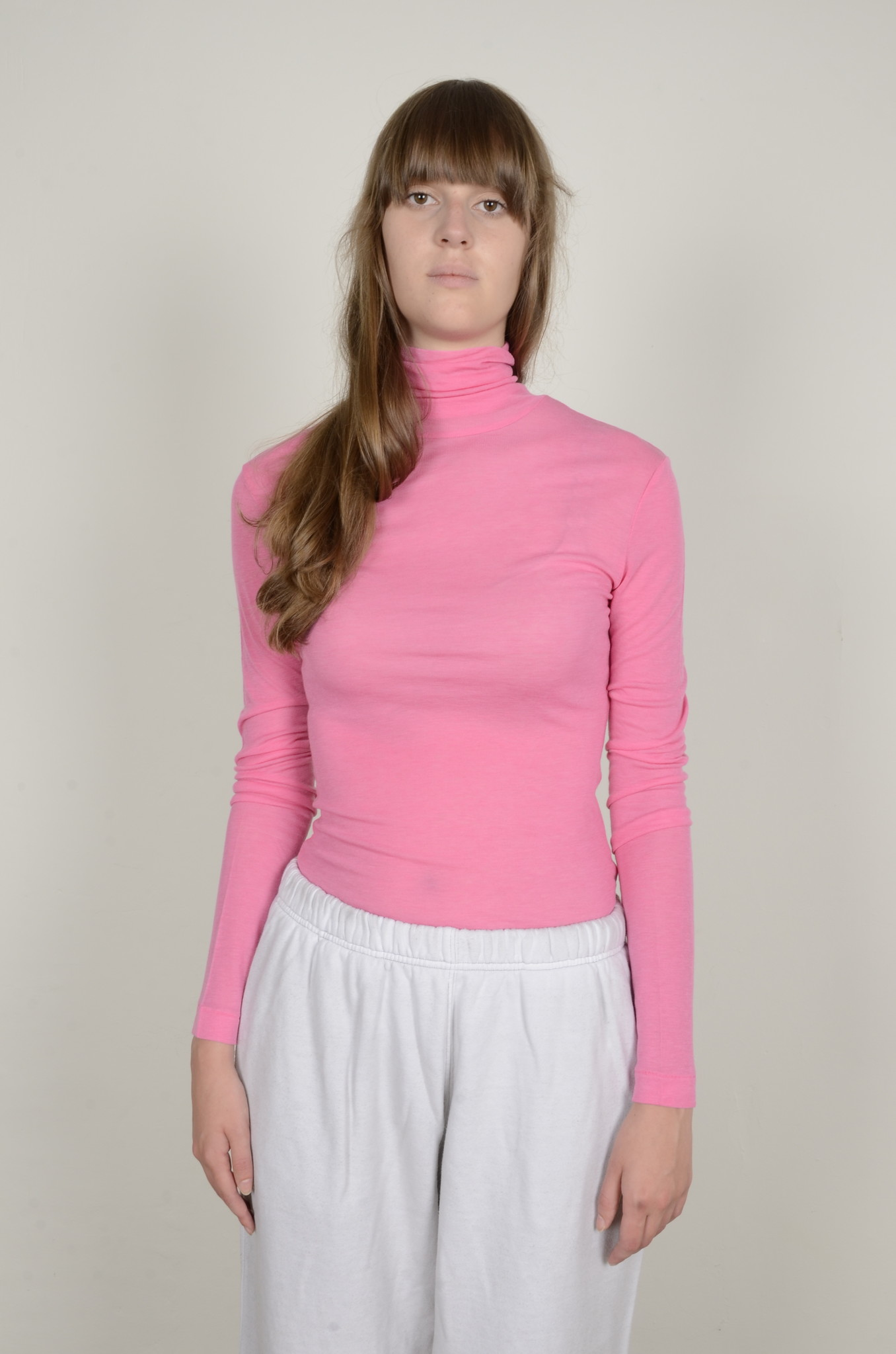 BRIGHT PINK TURTLE NECK-5