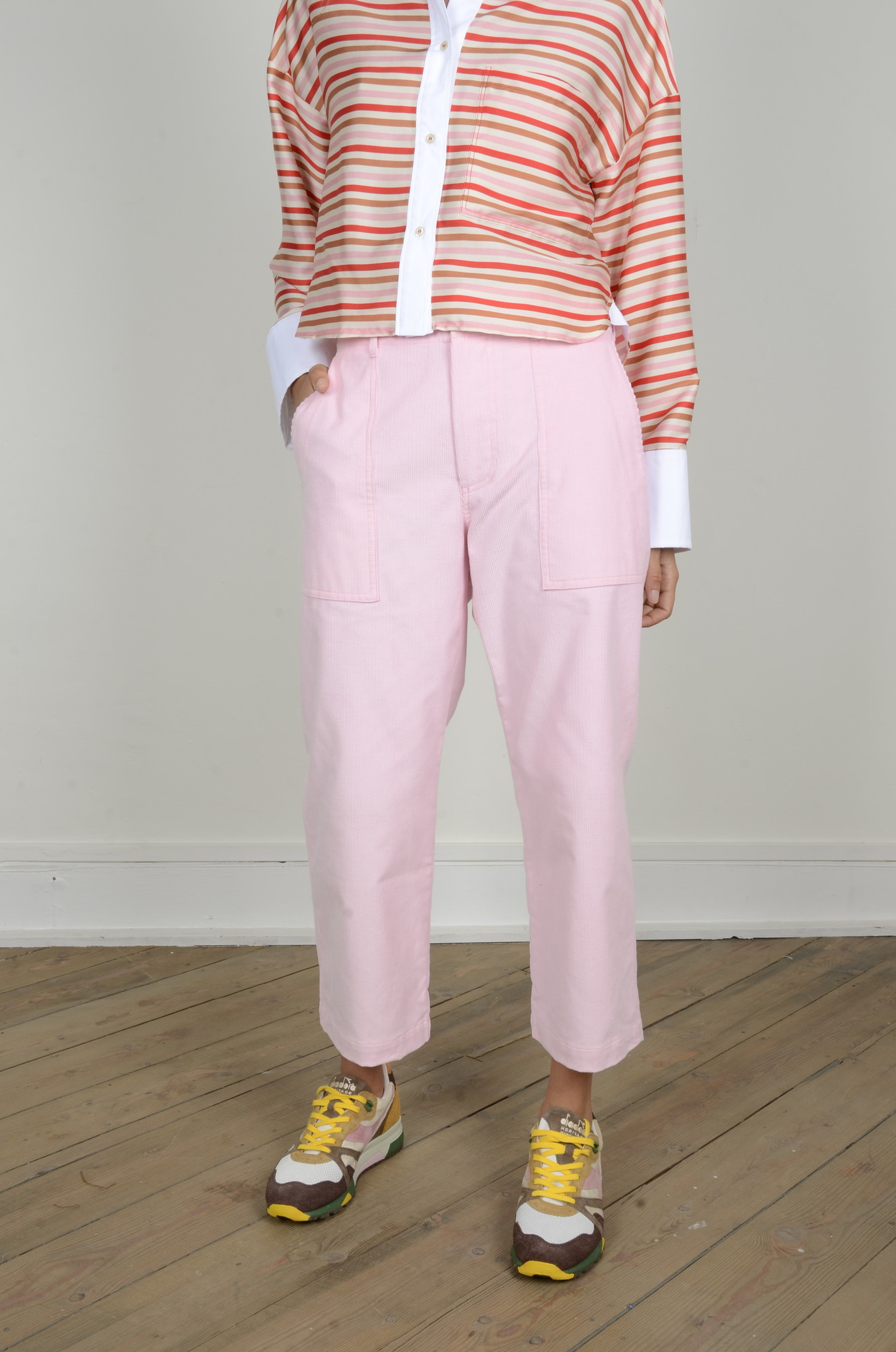 BABYRIB PATCH POCKET TROUSERS-1
