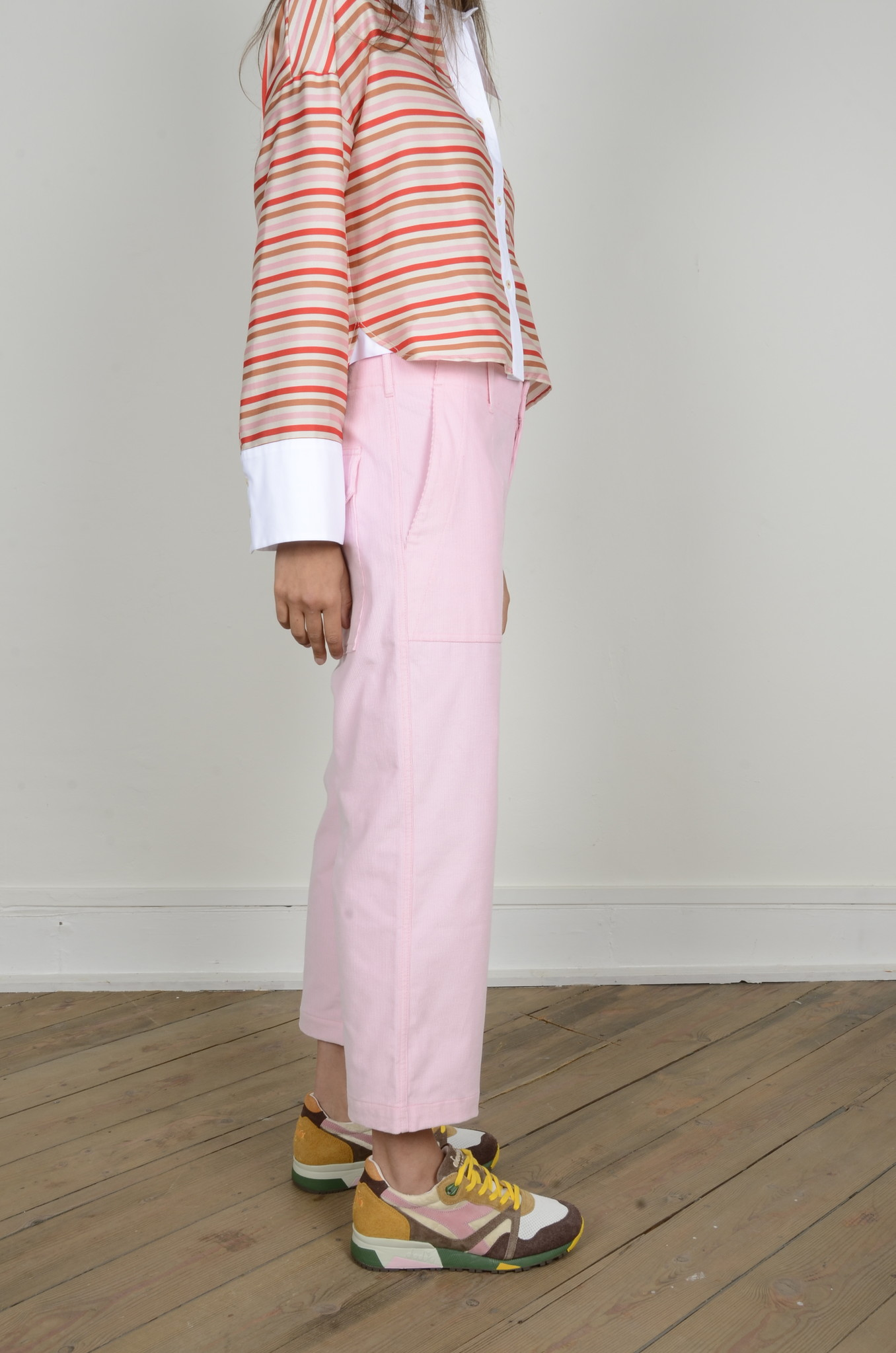 BABYRIB PATCH POCKET TROUSERS-4